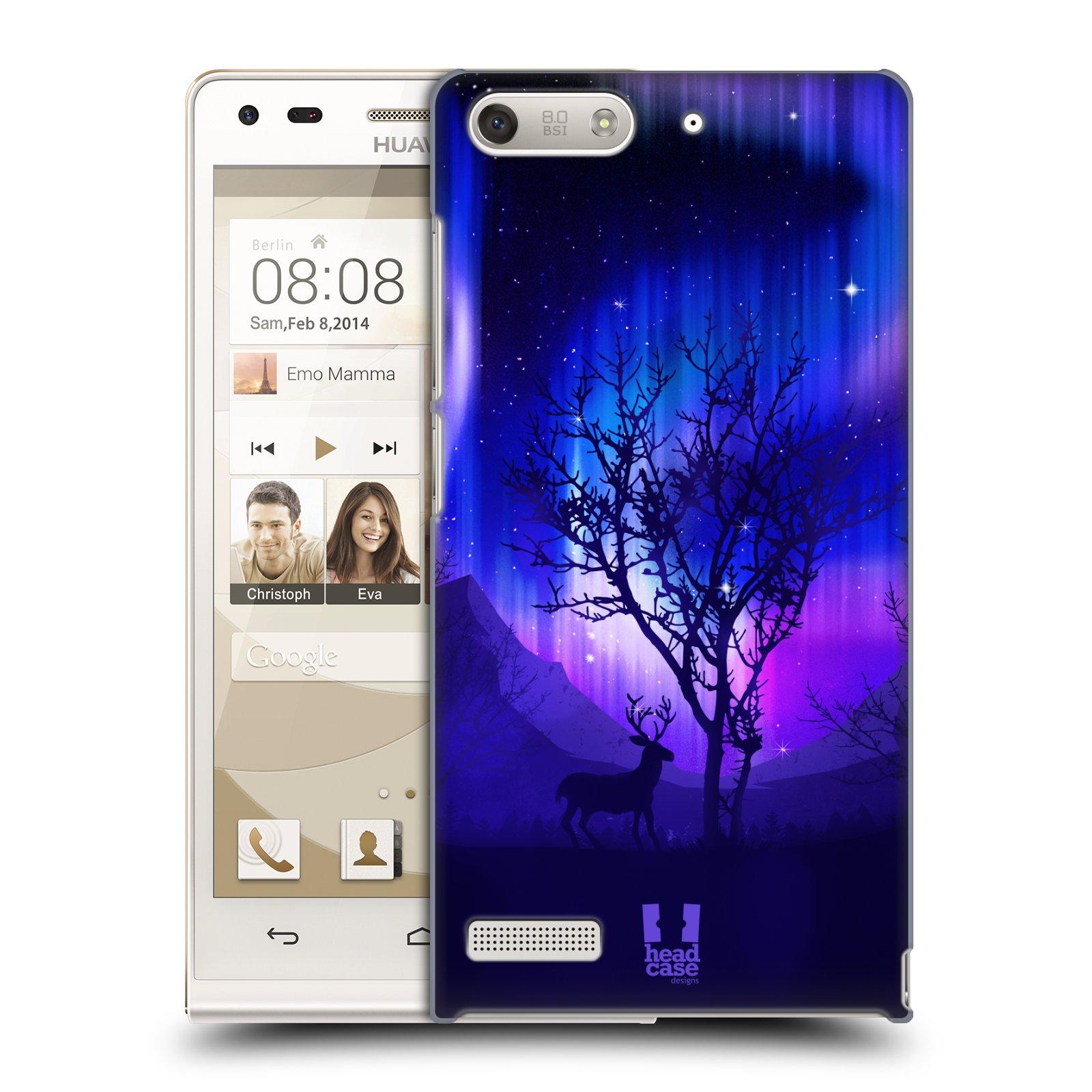 Plastové pouzdro na mobil Huawei Ascend G6 HEAD CASE POLÁRNÍ ZÁŘE STROM (Kryt či obal na mobilní telefon Huawei Ascend G6 bez LTE)