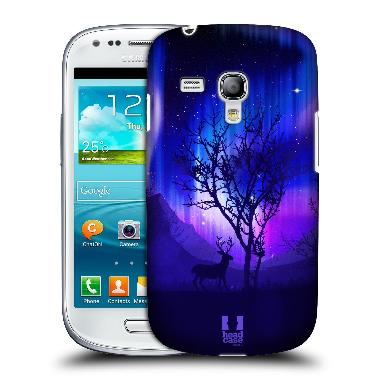 Plastové pouzdro na mobil Samsung Galaxy S III Mini HEAD CASE Polární Záře Strom (Kryt či obal na mobilní telefon Samsung Galaxy S III Mini GT-i8190)