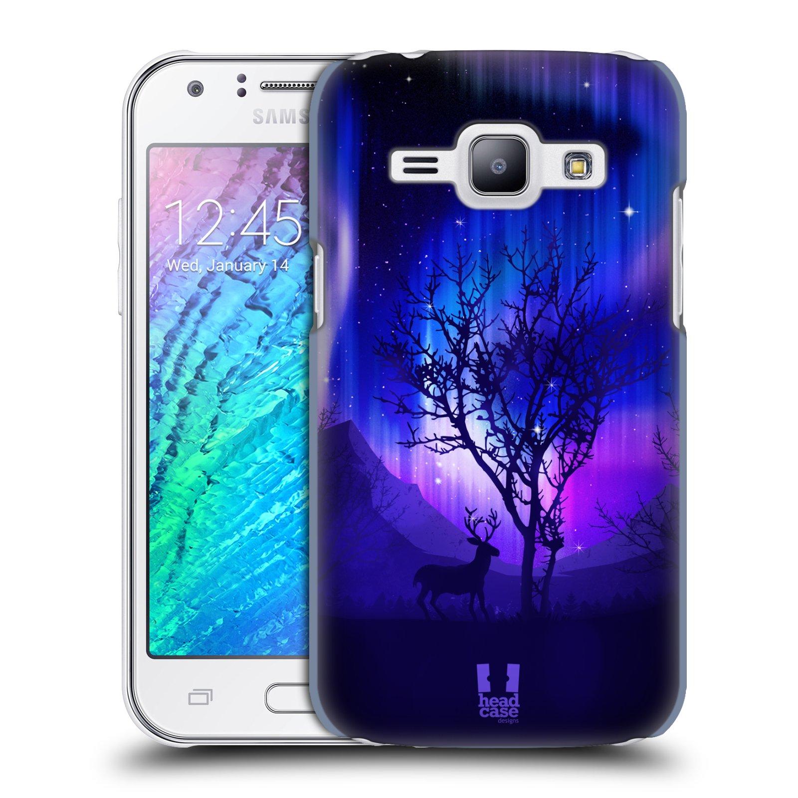 Plastové pouzdro na mobil Samsung Galaxy J1 HEAD CASE Polární Záře Strom (Kryt či obal na mobilní telefon Samsung Galaxy J1 a J1 Duos )