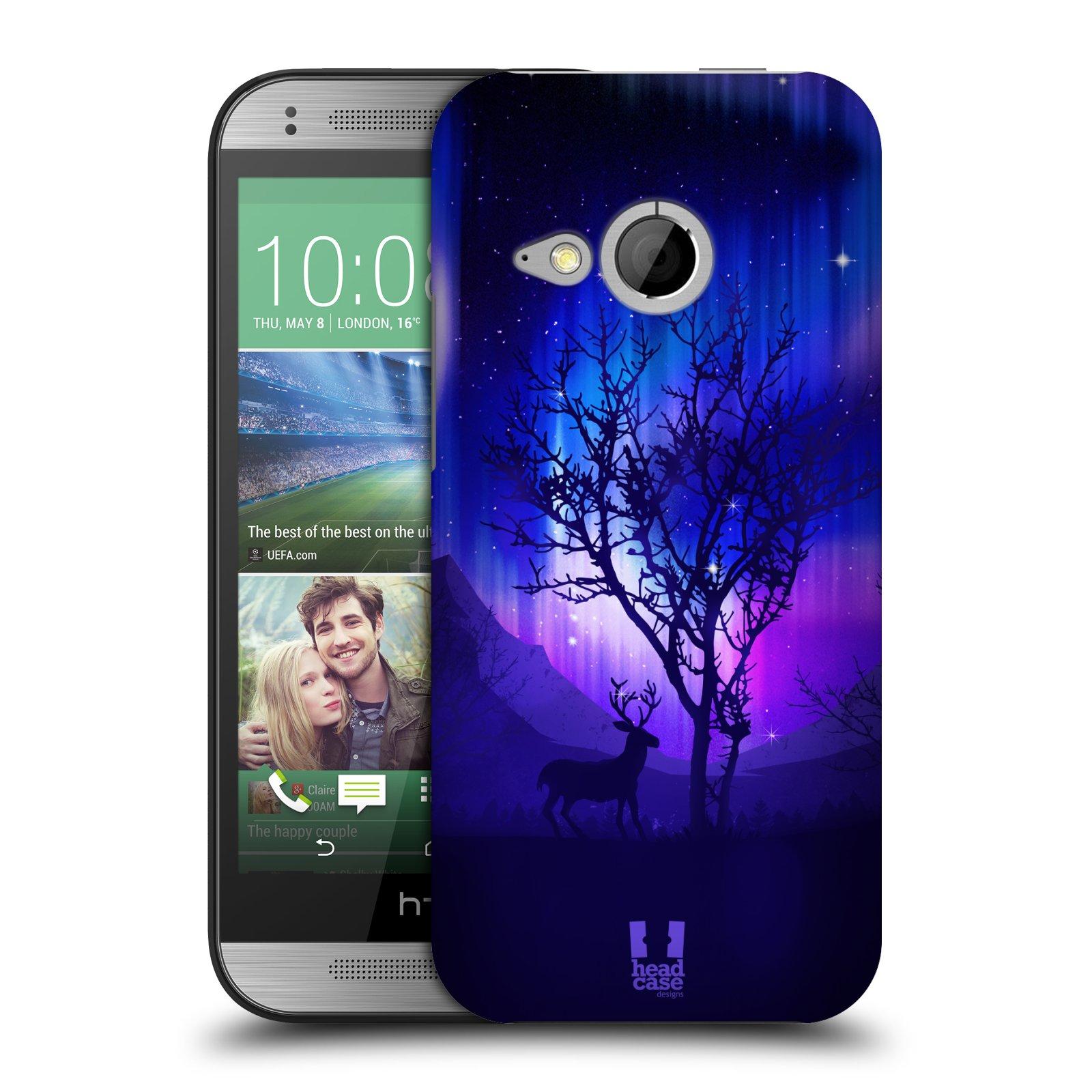 Plastové pouzdro na mobil HTC ONE Mini 2 HEAD CASE Polární Záře Strom (Kryt či obal na mobilní telefon HTC ONE Mini 2)