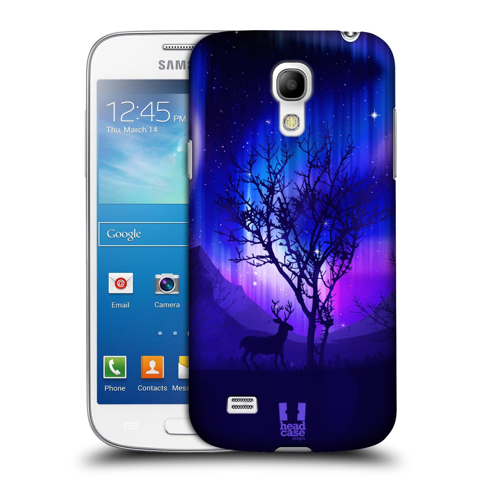 Plastové pouzdro na mobil Samsung Galaxy S4 Mini HEAD CASE Polární Záře Strom (Kryt či obal na mobilní telefon Samsung Galaxy S4 Mini GT-i9195 / i9190)