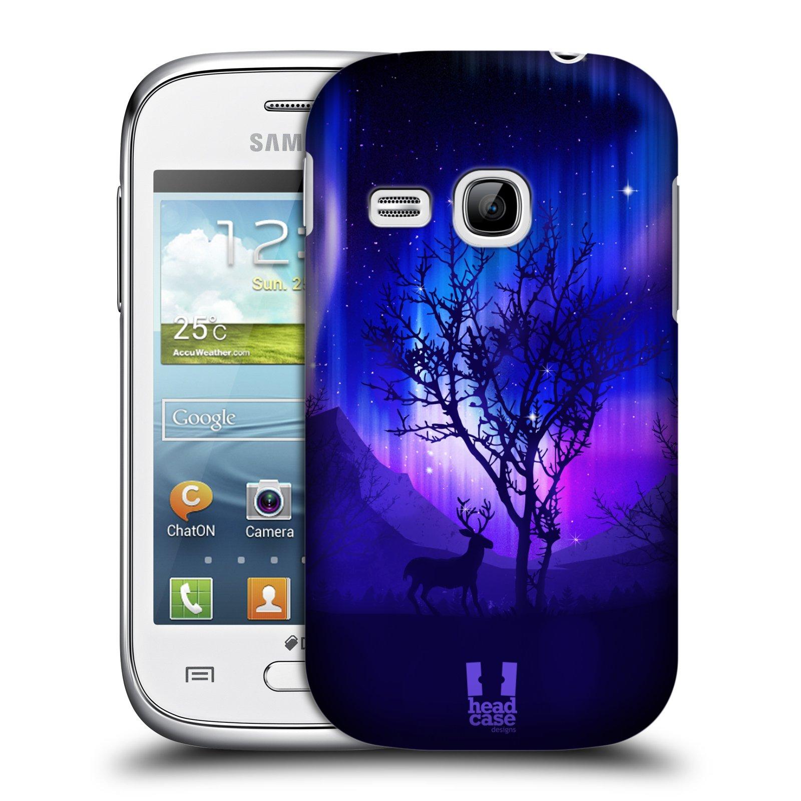 Plastové pouzdro na mobil Samsung Galaxy Young HEAD CASE Polární Záře Strom (Kryt či obal na mobilní telefon Samsung Galaxy Young GT-S6310)