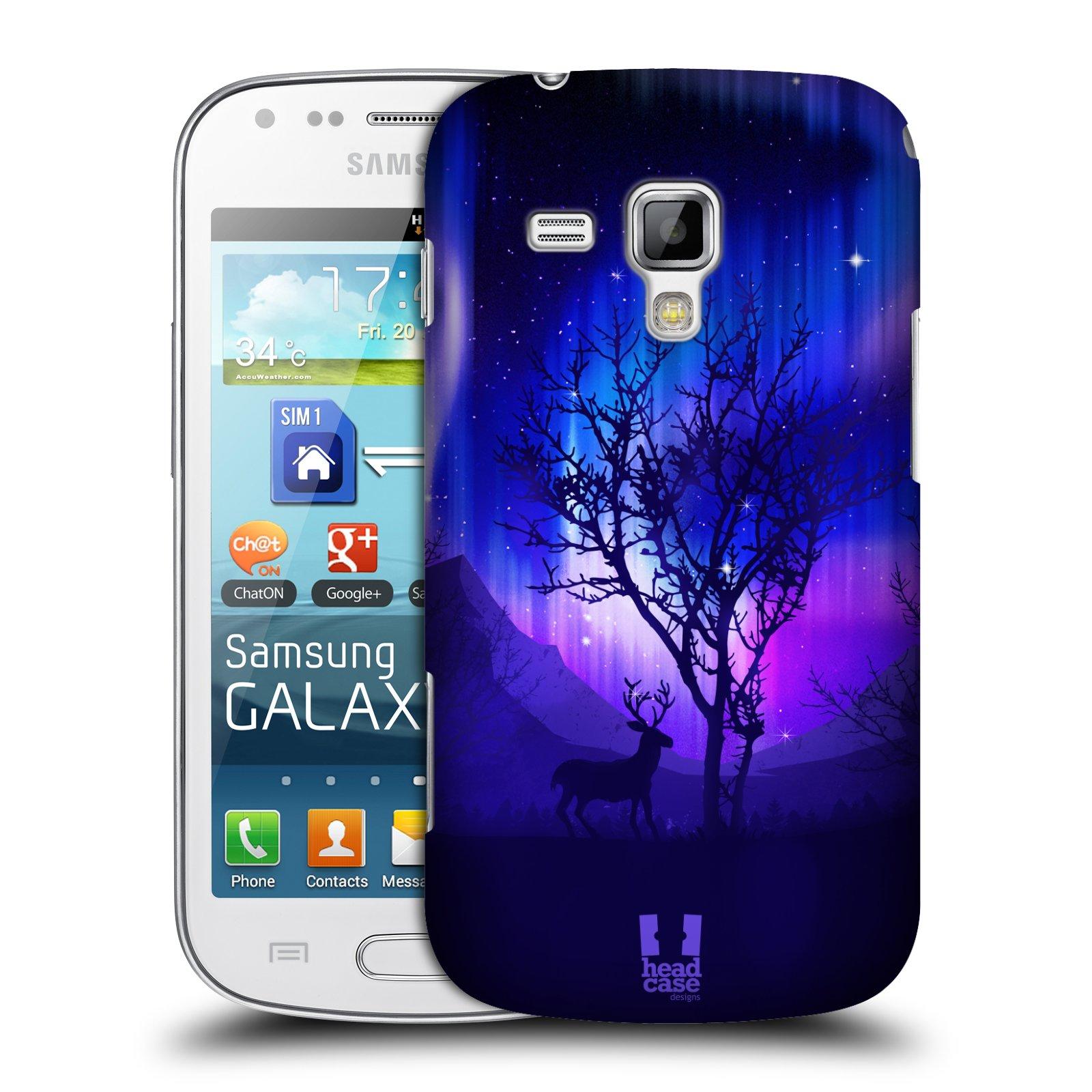 Plastové pouzdro na mobil Samsung Galaxy Trend Plus HEAD CASE Polární Záře Strom (Kryt či obal na mobilní telefon Samsung Galaxy Trend Plus GT-S7580)