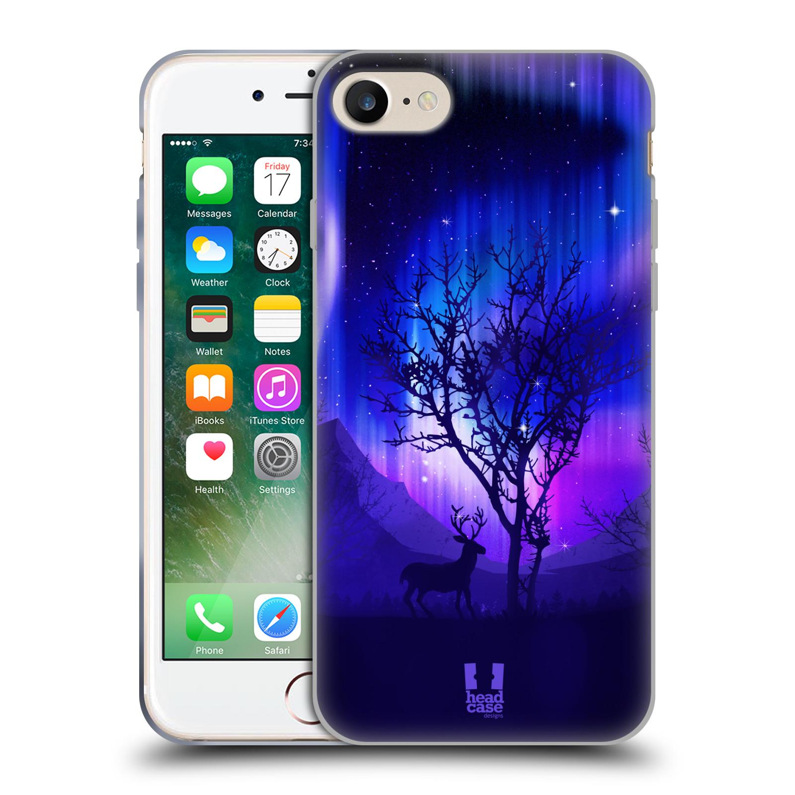 Silikonové pouzdro na mobil Apple iPhone 8 - Head Case - POLÁRNÍ ZÁŘE STROM ea67fc0a5d8