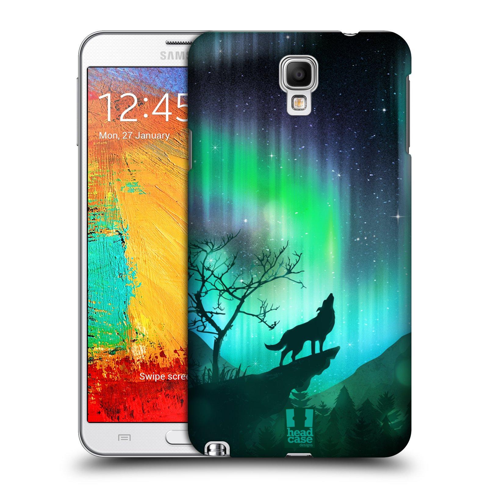 Plastové pouzdro na mobil Samsung Galaxy Note 3 Neo HEAD CASE Polární Záře Vlk (Kryt či obal na mobilní telefon Samsung Galaxy Note 3 Neo SM-N7505)