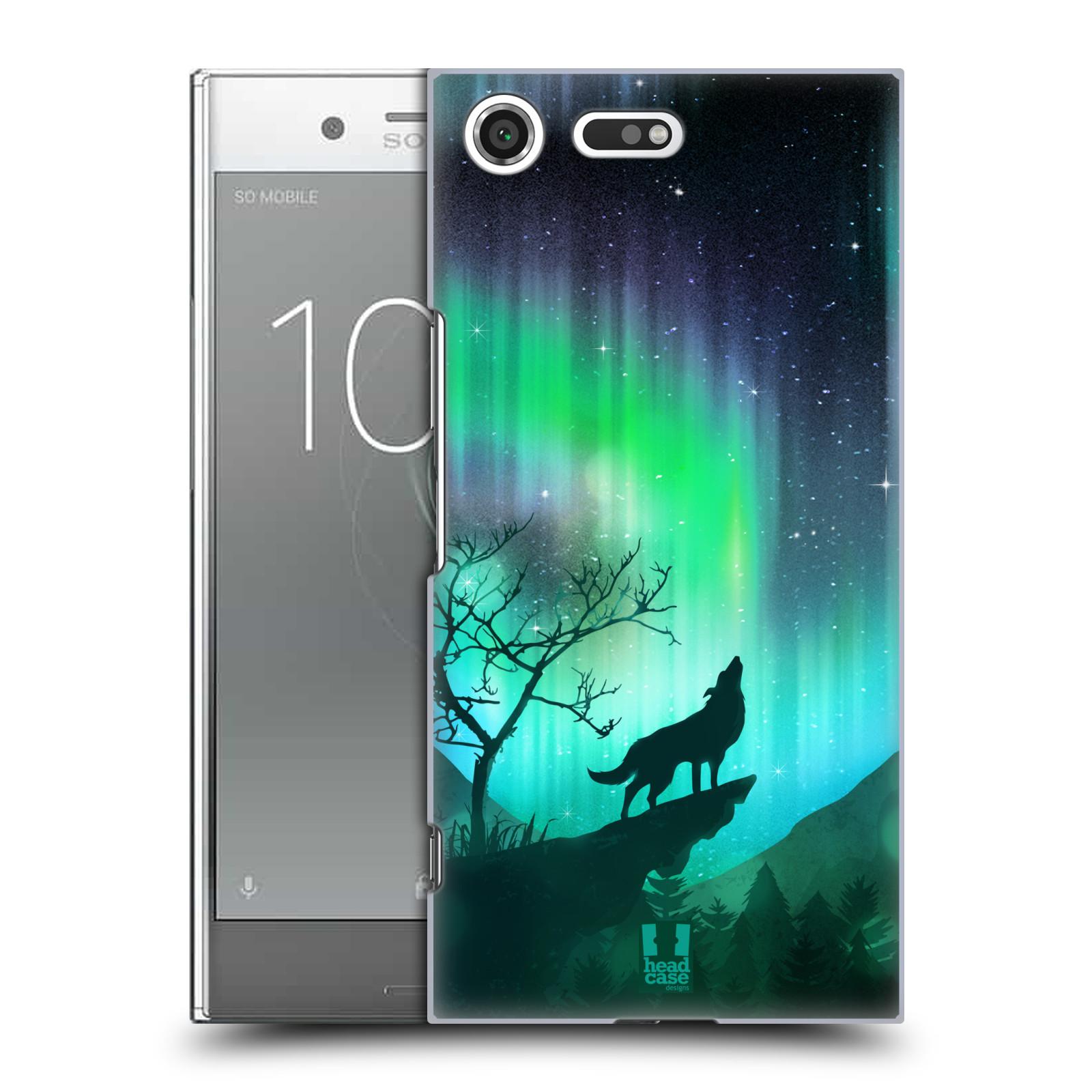 Plastové pouzdro na mobil Sony Xperia XZ Premium Head Case - POLÁRNÍ ZÁŘE VLK (Plastový kryt či obal na mobilní telefon Sony Xperia XZ Premium G8142)