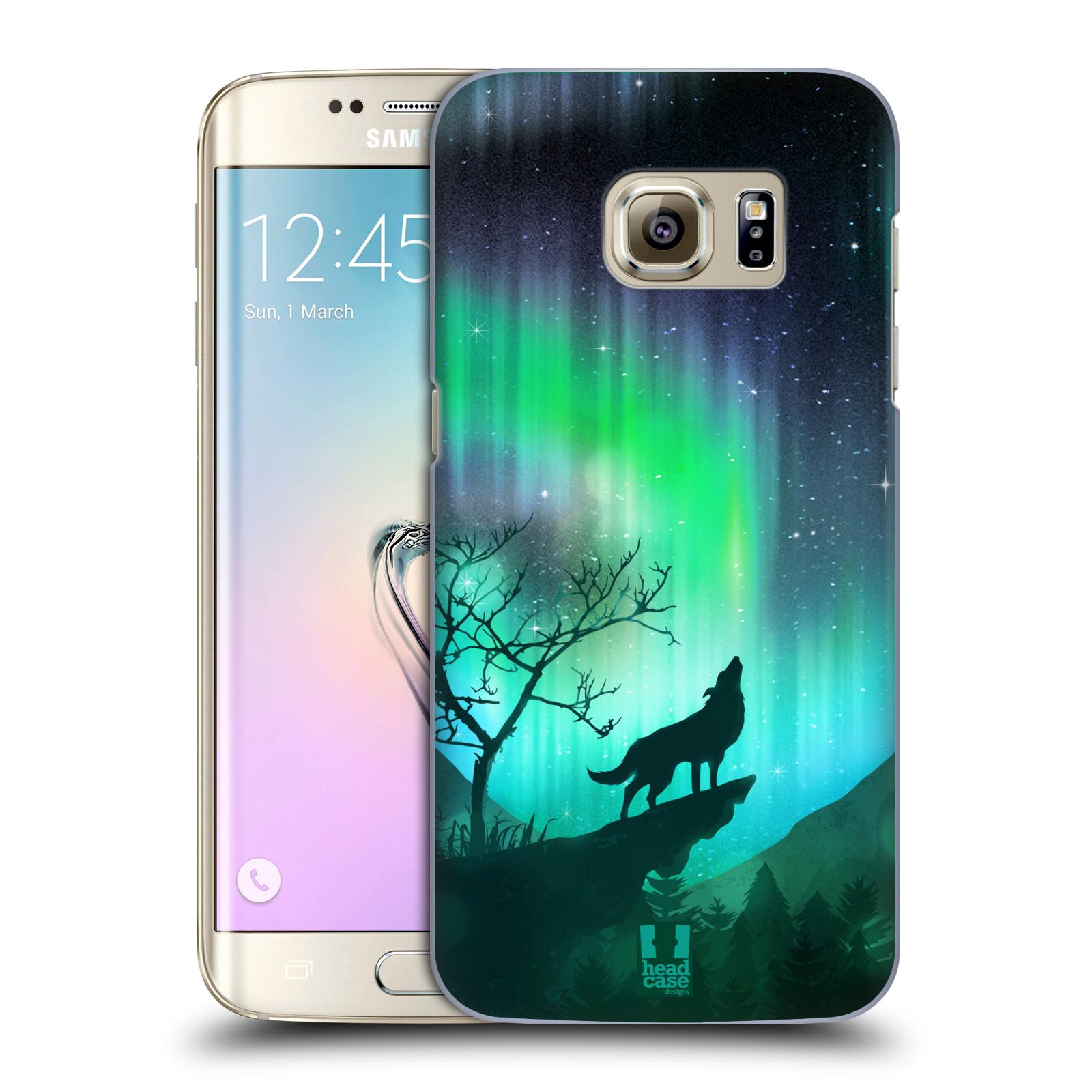 Plastové pouzdro na mobil Samsung Galaxy S7 Edge HEAD CASE POLÁRNÍ ZÁŘE VLK