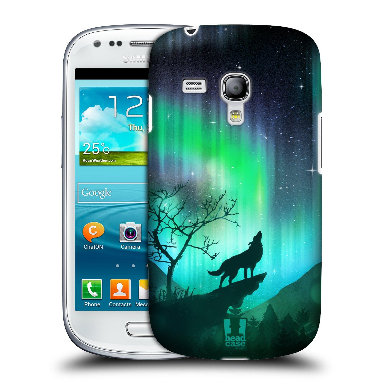 Plastové pouzdro na mobil Samsung Galaxy S III Mini HEAD CASE Polární Záře Vlk (Kryt či obal na mobilní telefon Samsung Galaxy S III Mini GT-i8190)