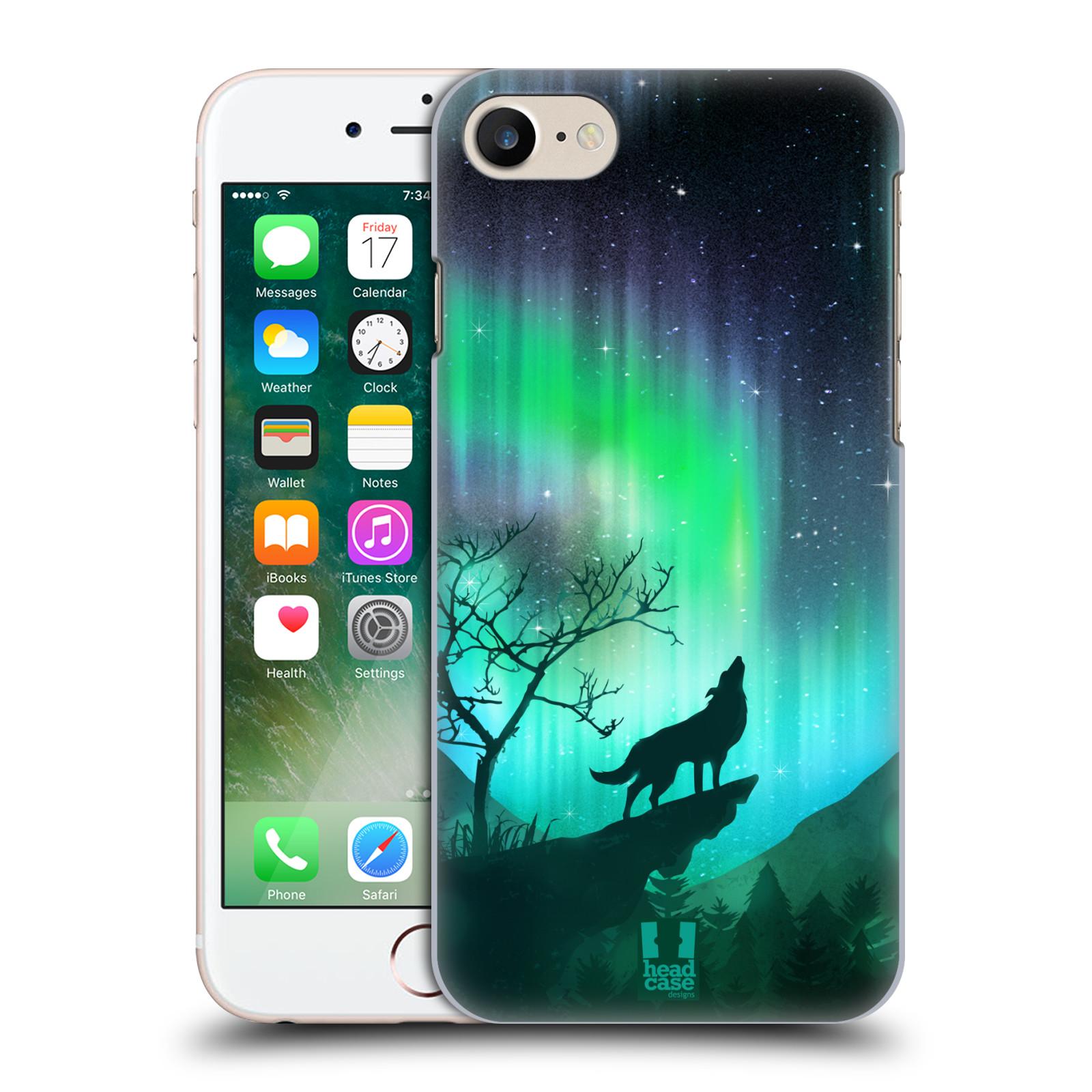 Plastové pouzdro na mobil Apple iPhone 7 HEAD CASE POLÁRNÍ ZÁŘE VLK