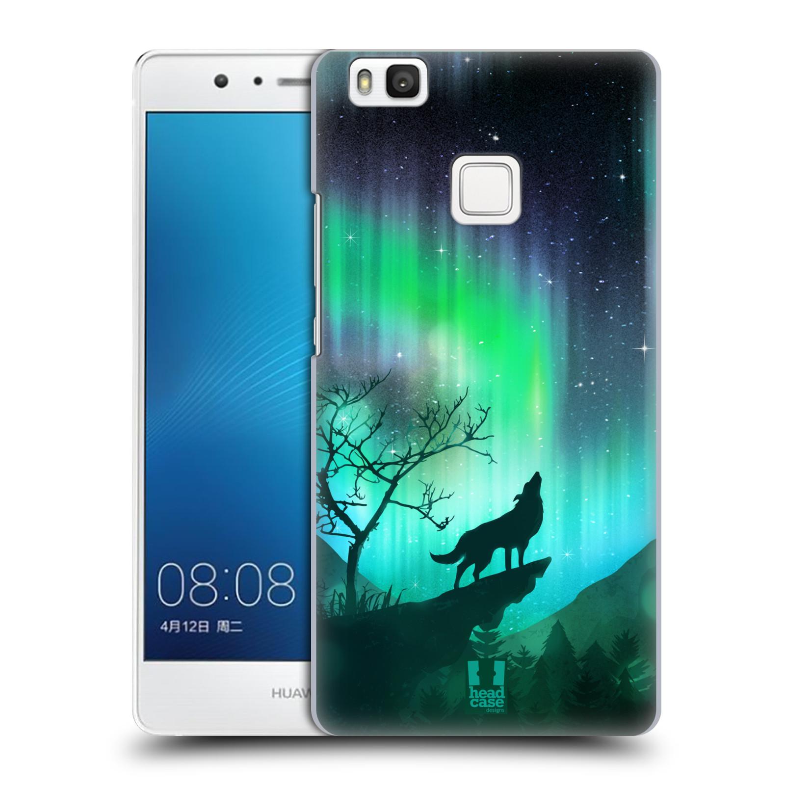 Plastové pouzdro na mobil Huawei P9 Lite HEAD CASE POLÁRNÍ ZÁŘE VLK ... 62f3837bdca