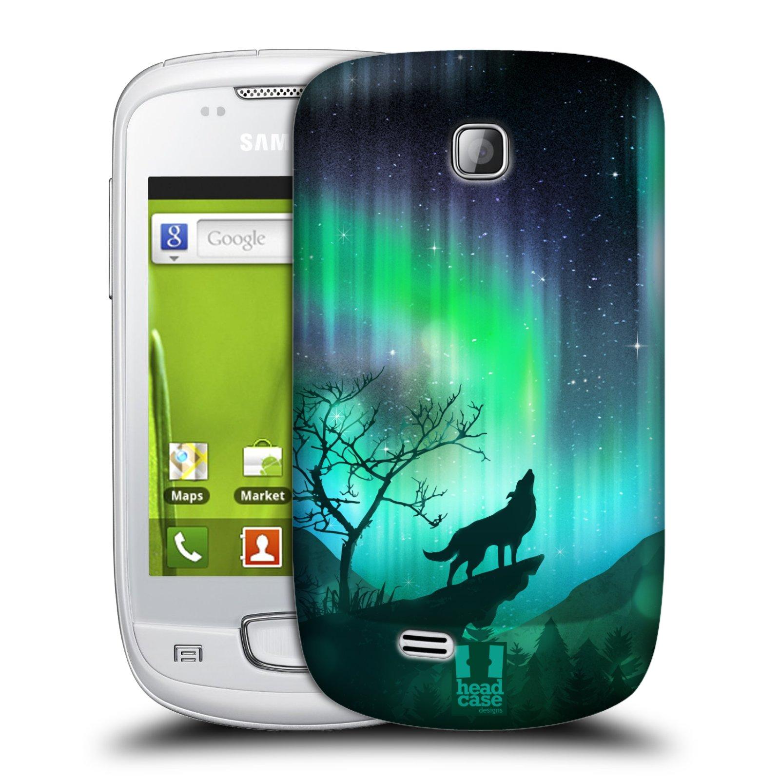 Plastové pouzdro na mobil Samsung Galaxy Mini HEAD CASE Polární Záře Vlk (Kryt či obal na mobilní telefon Samsung Galaxy Mini GT-S5570 / GT-S5570i)