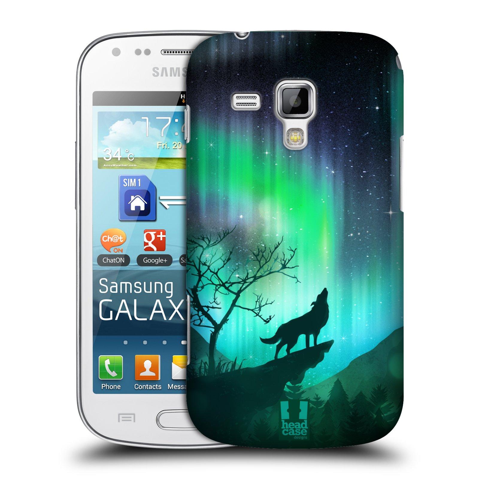 Plastové pouzdro na mobil Samsung Galaxy Trend Plus HEAD CASE Polární Záře Vlk (Kryt či obal na mobilní telefon Samsung Galaxy Trend Plus GT-S7580)