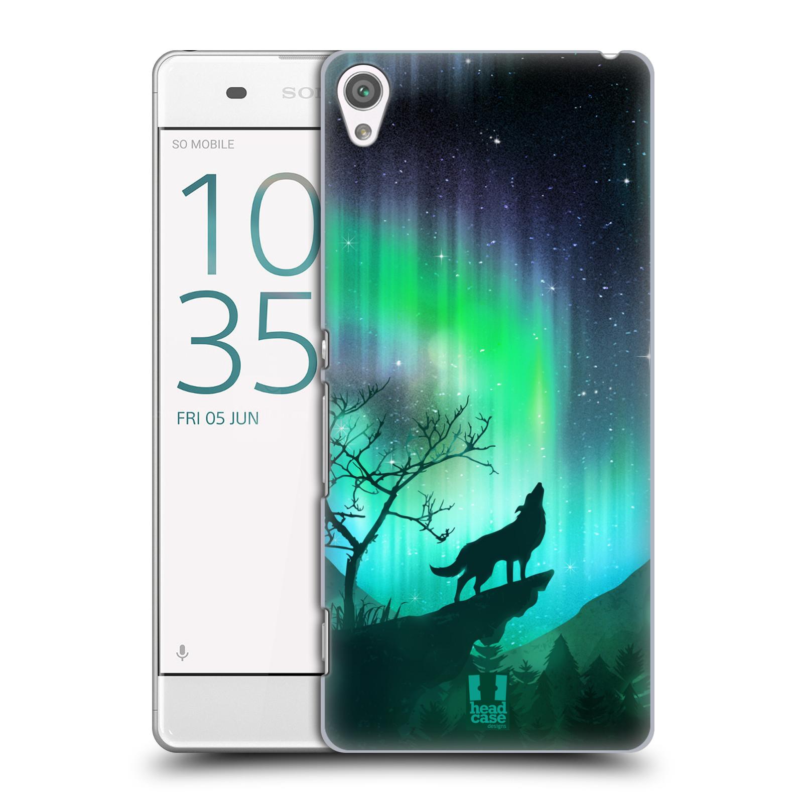 Plastové pouzdro na mobil Sony Xperia XA HEAD CASE POLÁRNÍ ZÁŘE VLK