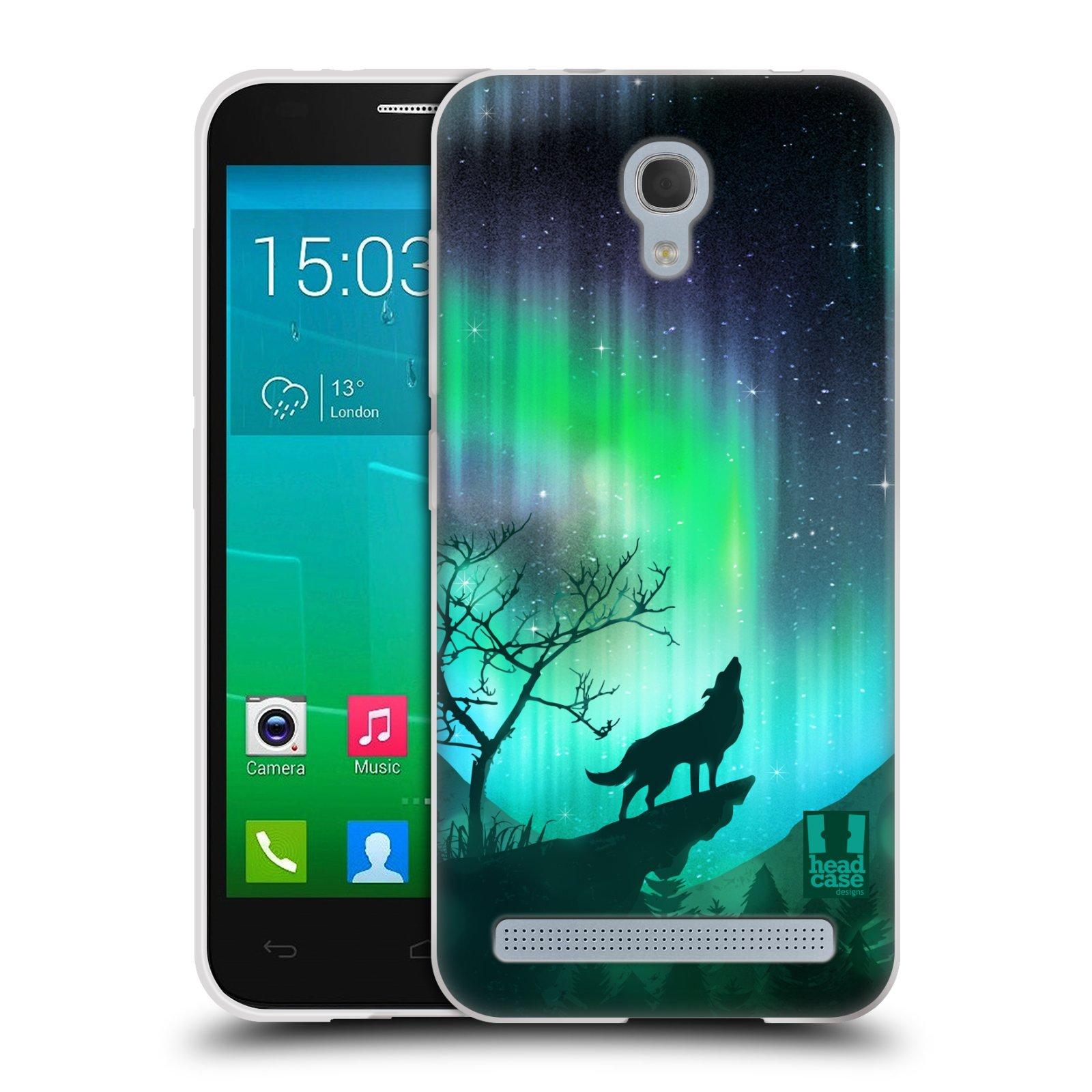 Silikonové pouzdro na mobil Alcatel One Touch Idol 2 Mini S 6036Y HEAD CASE POLÁRNÍ ZÁŘE VLK