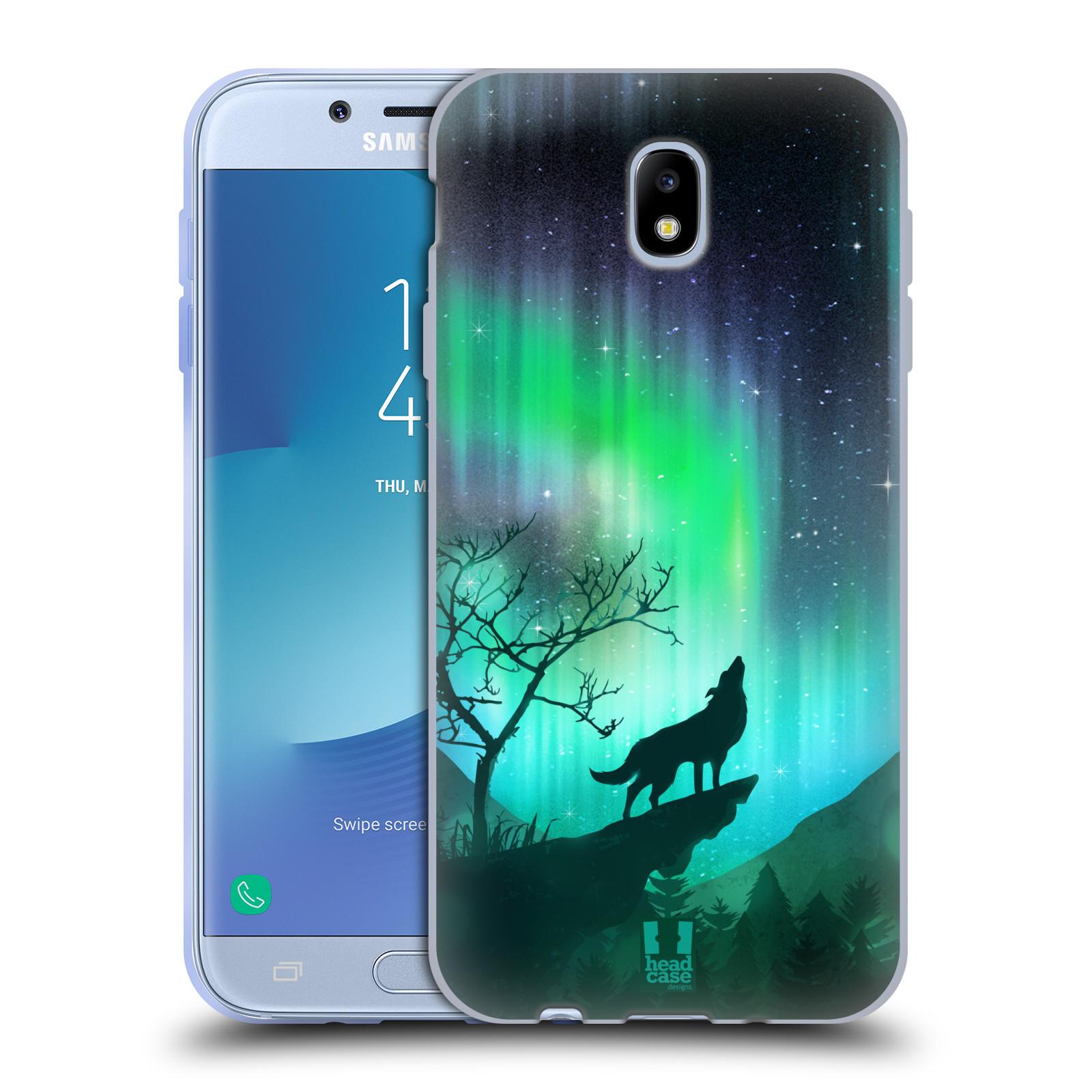 Silikonové pouzdro na mobil Samsung Galaxy J7 (2017) - Head Case - POLÁRNÍ ZÁŘE VLK