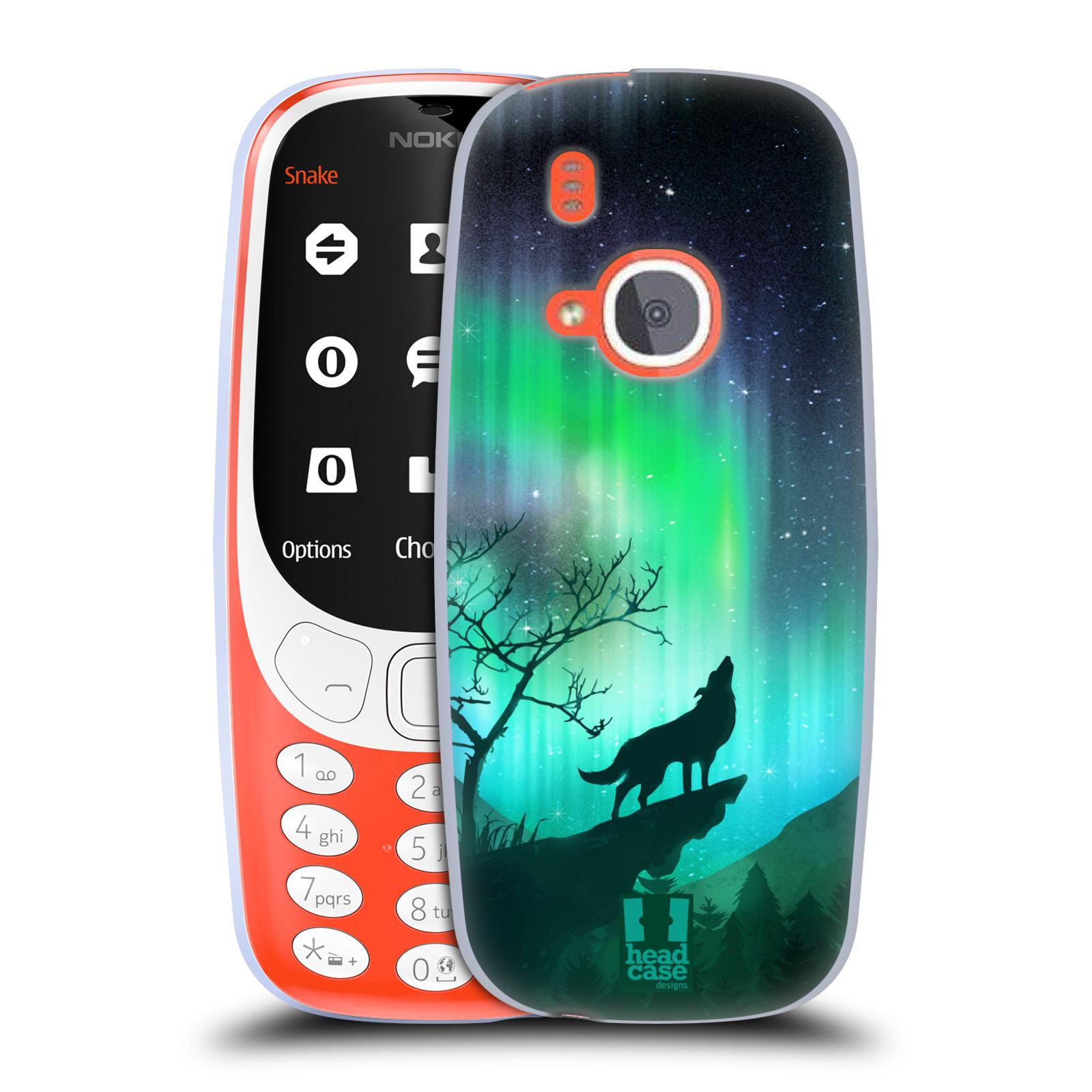 Silikonové pouzdro na mobil Nokia 3310 - Head Case - POLÁRNÍ ZÁŘE VLK (Silikonový kryt či obal na mobilní telefon Nokia 3310 (2017) s motivem POLÁRNÍ ZÁŘE VLK)