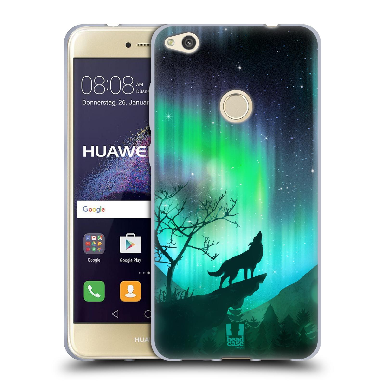 Silikonové pouzdro na mobil Huawei P9 Lite (2017) HEAD CASE POLÁRNÍ ZÁŘE VLK