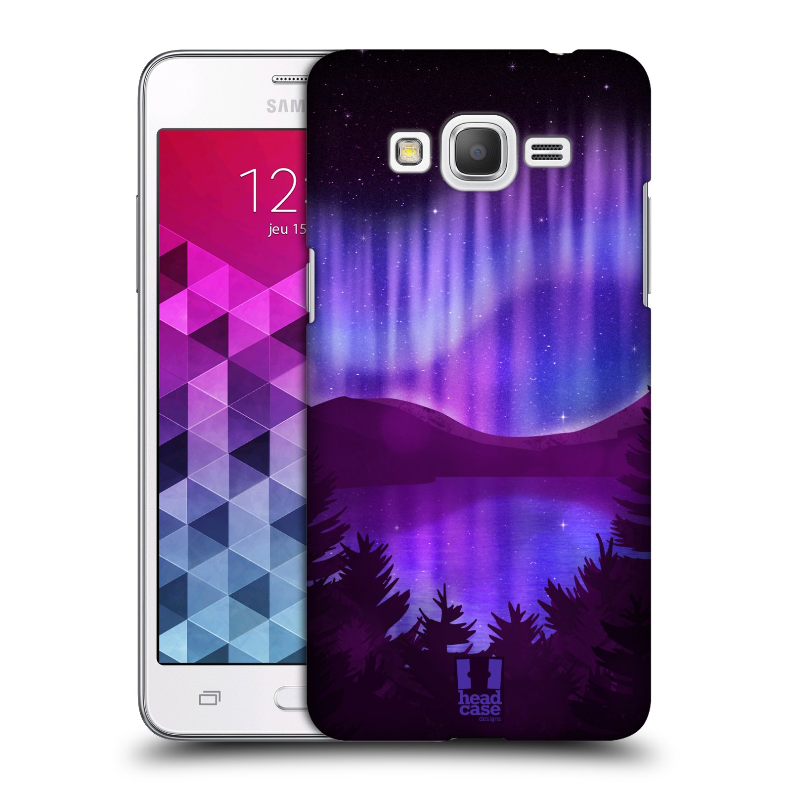 Plastové pouzdro na mobil Samsung Galaxy Grand Prime VE HEAD CASE Polární Záře Nad Jezerem