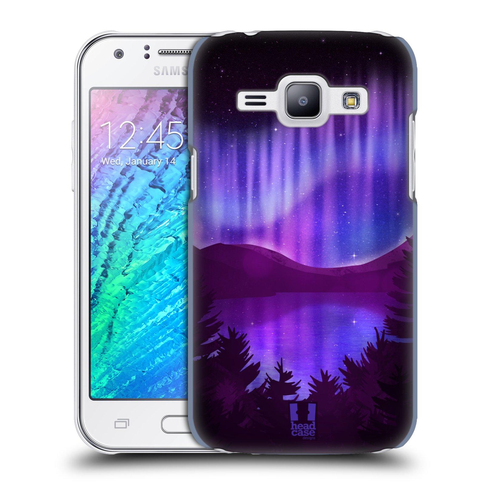 Plastové pouzdro na mobil Samsung Galaxy J1 HEAD CASE Polární Záře Nad Jezerem (Kryt či obal na mobilní telefon Samsung Galaxy J1 a J1 Duos )