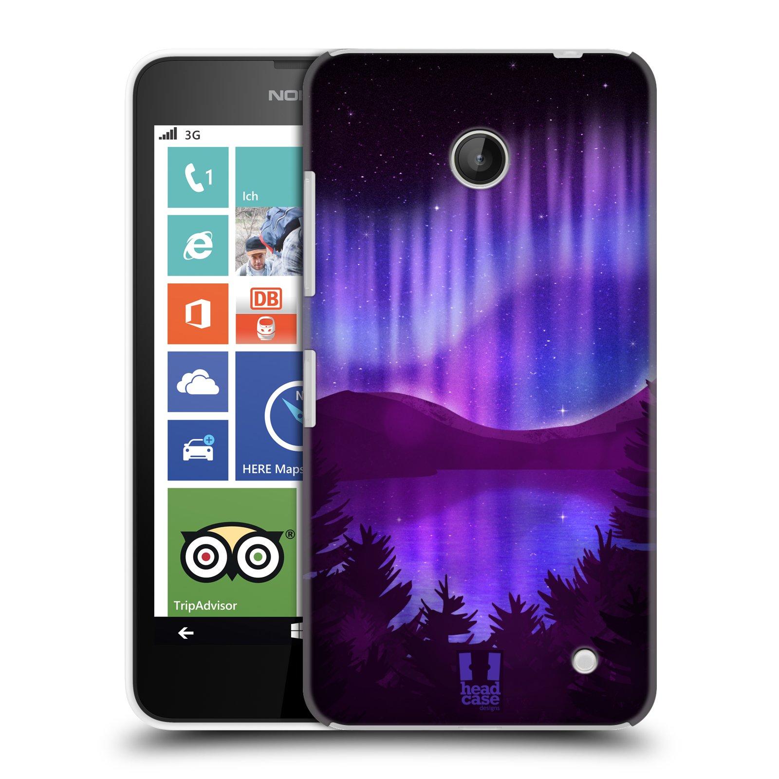 Plastové pouzdro na mobil Nokia Lumia 630 HEAD CASE Polární Záře Nad Jezerem (Kryt či obal na mobilní telefon Nokia Lumia 630 a Nokia Lumia 630 Dual SIM)