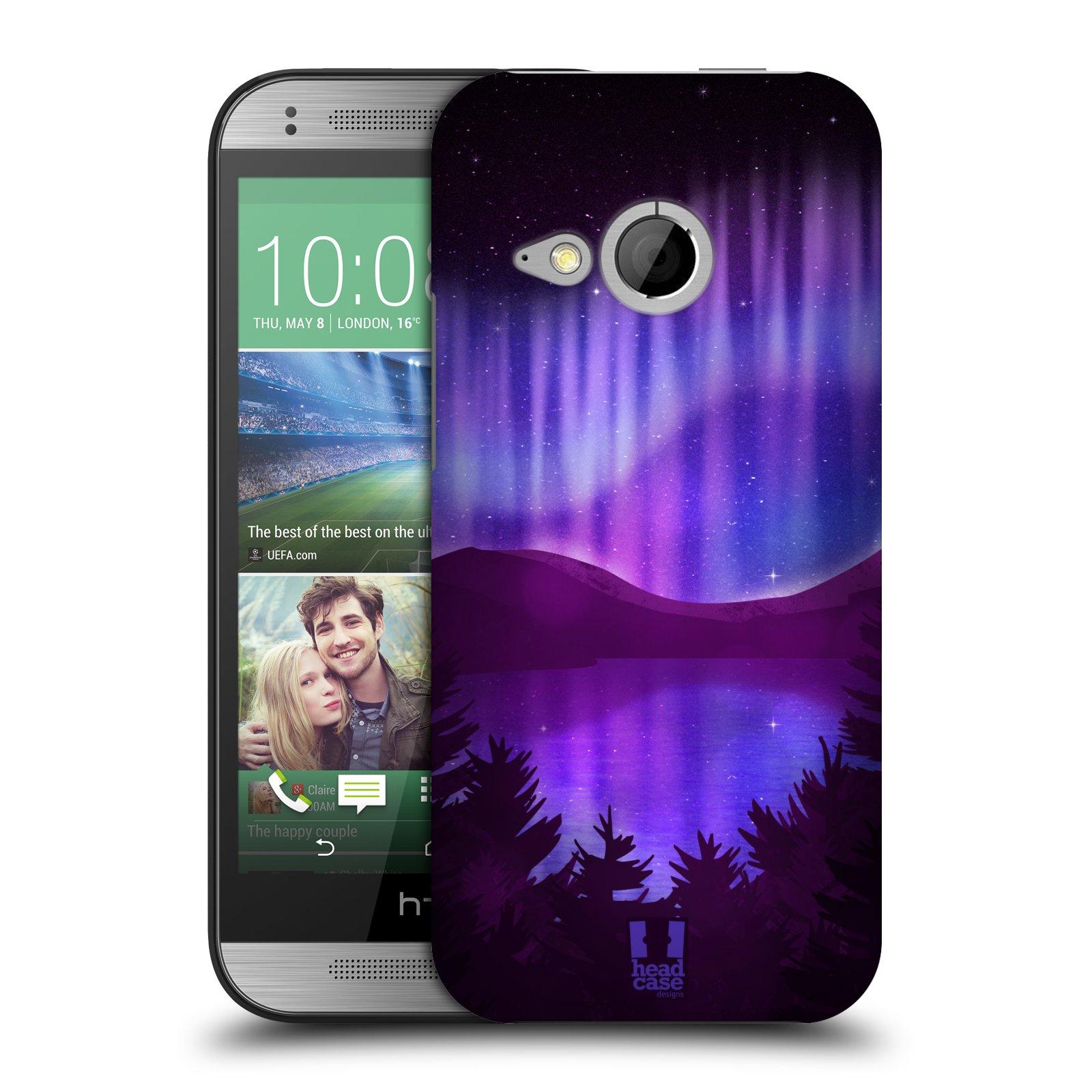 Plastové pouzdro na mobil HTC ONE Mini 2 HEAD CASE Polární Záře Nad Jezerem (Kryt či obal na mobilní telefon HTC ONE Mini 2)