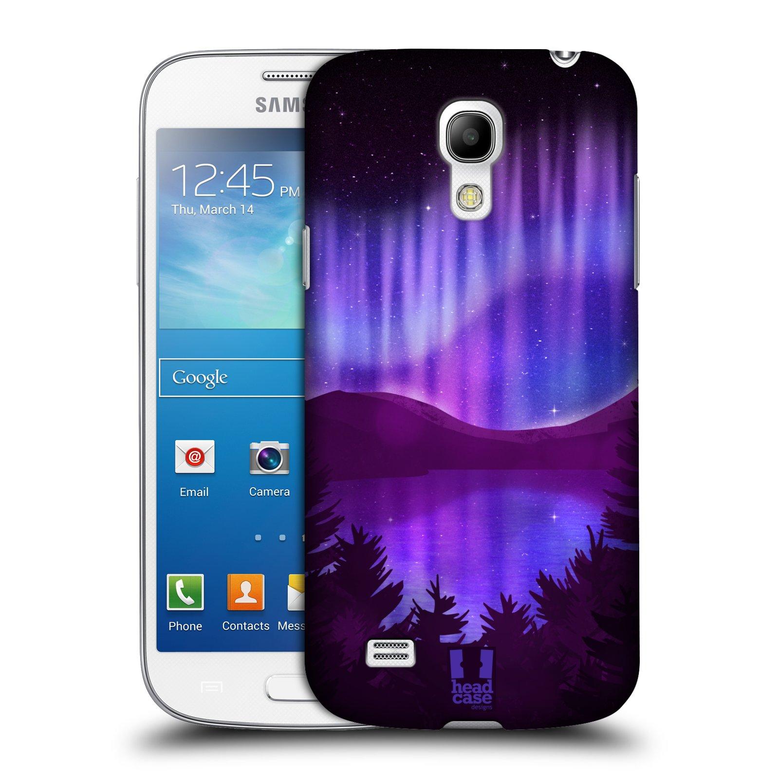 Plastové pouzdro na mobil Samsung Galaxy S4 Mini HEAD CASE Polární Záře Nad Jezerem (Kryt či obal na mobilní telefon Samsung Galaxy S4 Mini GT-i9195 / i9190)