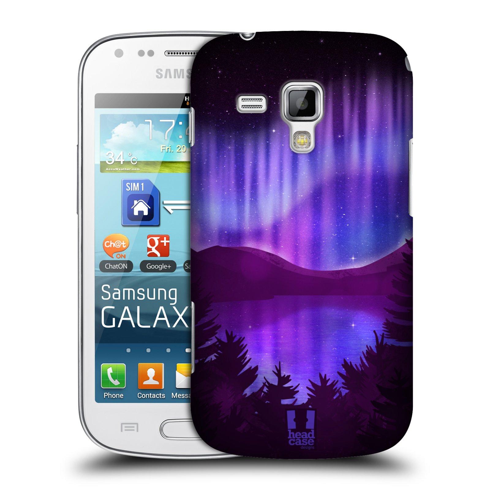 Plastové pouzdro na mobil Samsung Galaxy Trend Plus HEAD CASE Polární Záře Nad Jezerem (Kryt či obal na mobilní telefon Samsung Galaxy Trend Plus GT-S7580)