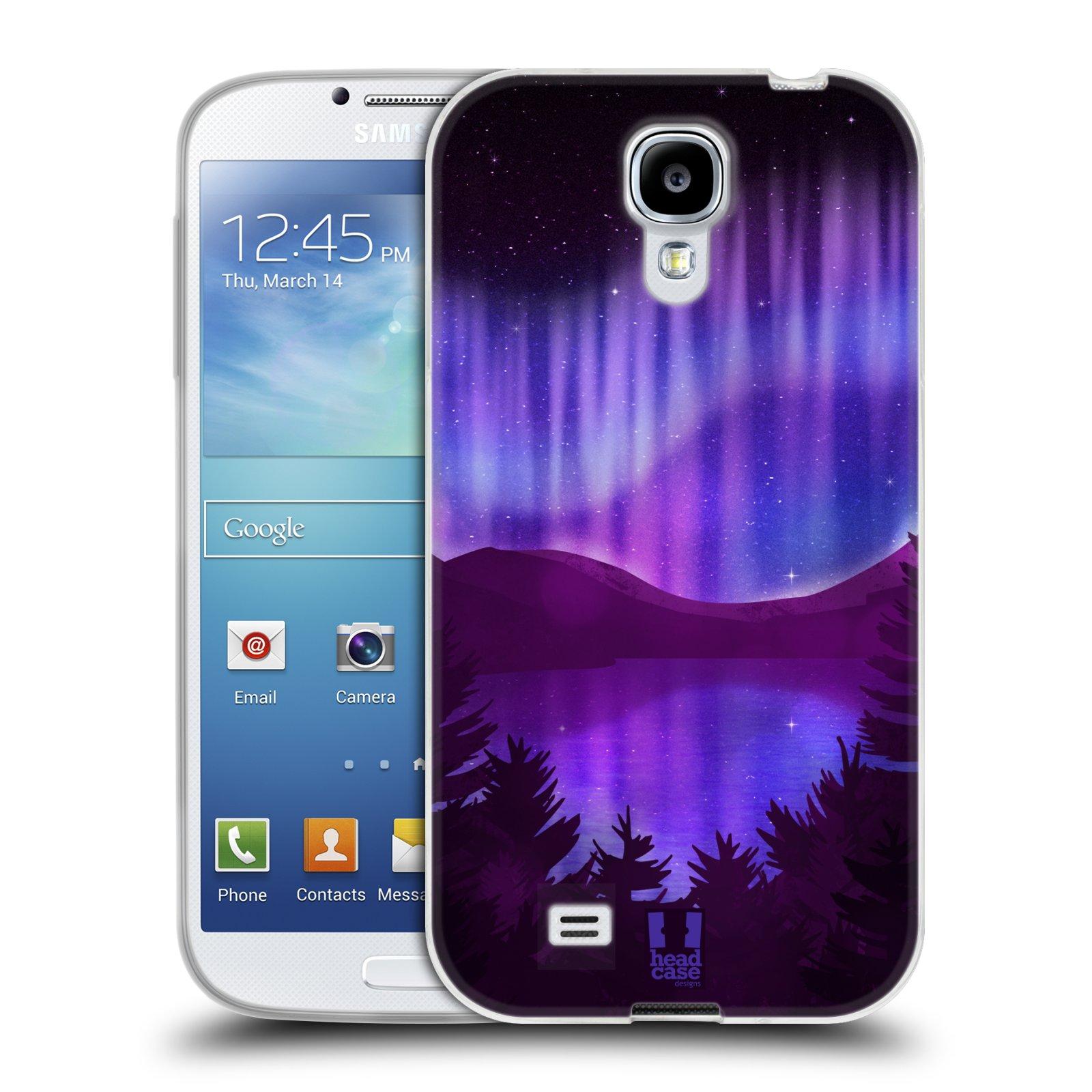 Silikonové pouzdro na mobil Samsung Galaxy S4 HEAD CASE Polární Záře Nad Jezerem (Silikonový kryt či obal na mobilní telefon Samsung Galaxy S4 GT-i9505 / i9500)