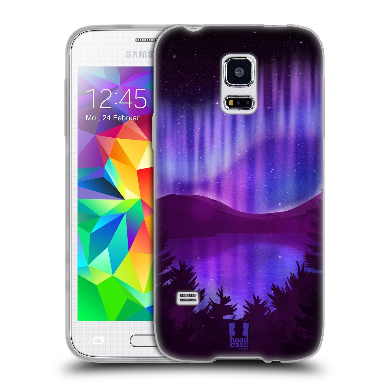 Silikonové pouzdro na mobil Samsung Galaxy S5 Mini HEAD CASE Polární Záře Nad Jezerem (Silikonový kryt či obal na mobilní telefon Samsung Galaxy S5 Mini SM-G800F)