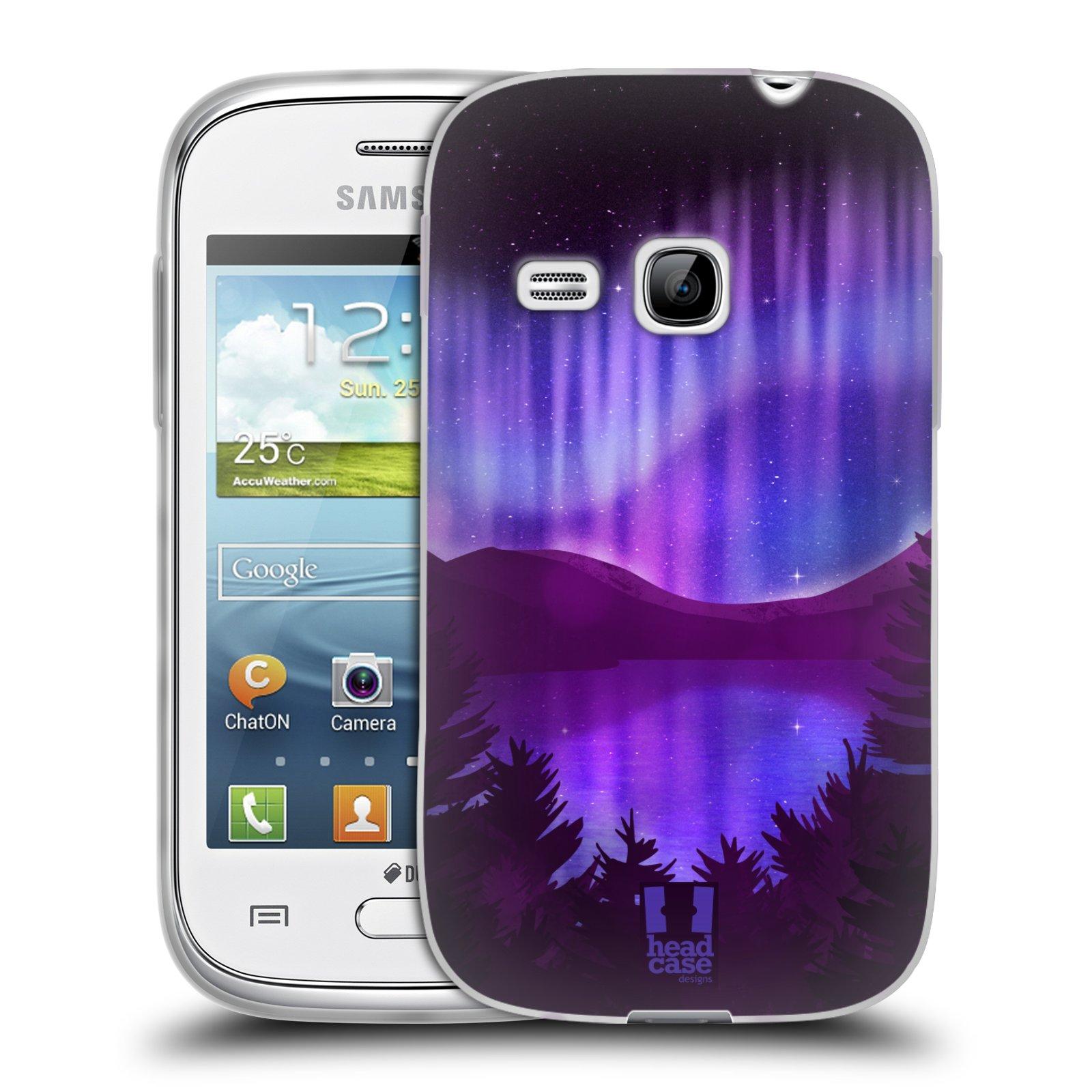 Silikonové pouzdro na mobil Samsung Galaxy Young HEAD CASE Polární Záře Nad Jezerem (Silikonový kryt či obal na mobilní telefon Samsung Galaxy Young GT-S6310)