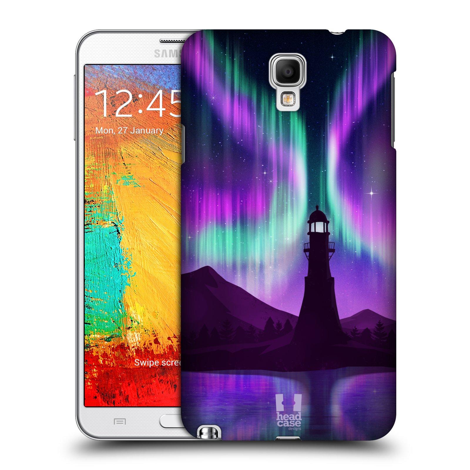 Plastové pouzdro na mobil Samsung Galaxy Note 3 Neo HEAD CASE Polární Záře Maják (Kryt či obal na mobilní telefon Samsung Galaxy Note 3 Neo SM-N7505)