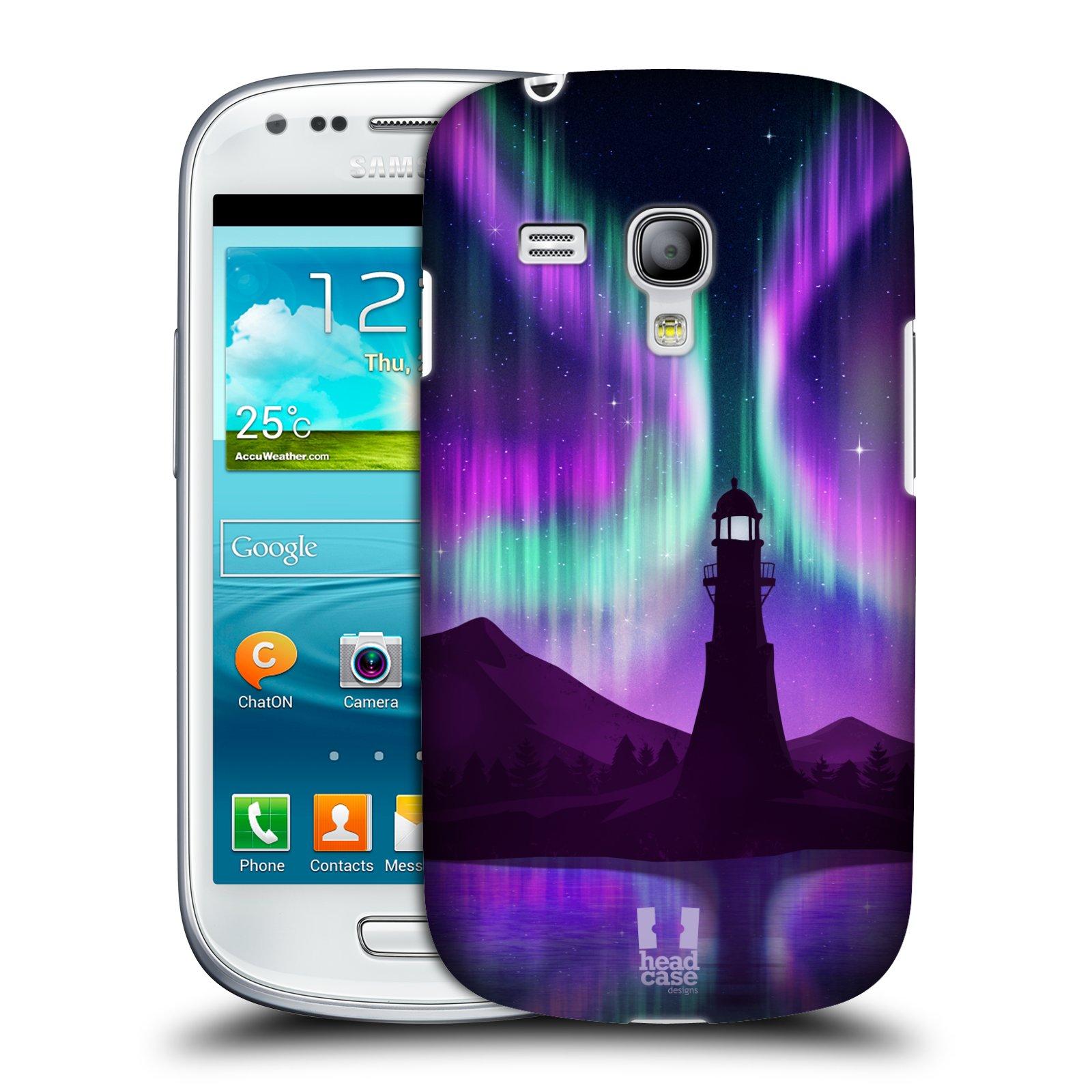 Plastové pouzdro na mobil Samsung Galaxy S III Mini HEAD CASE Polární Záře Maják (Kryt či obal na mobilní telefon Samsung Galaxy S III Mini GT-i8190)