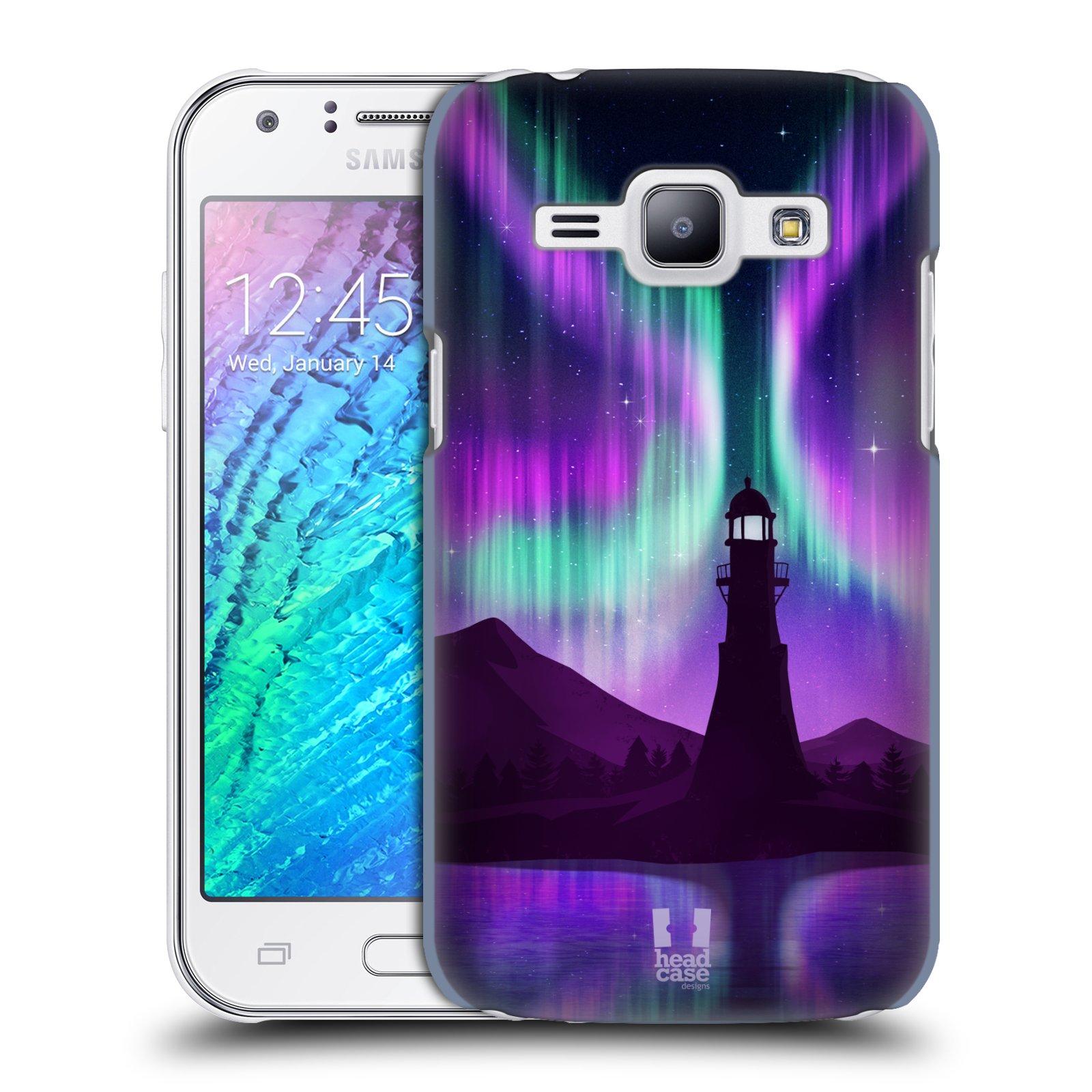 Plastové pouzdro na mobil Samsung Galaxy J1 HEAD CASE Polární Záře Maják (Kryt či obal na mobilní telefon Samsung Galaxy J1 a J1 Duos )