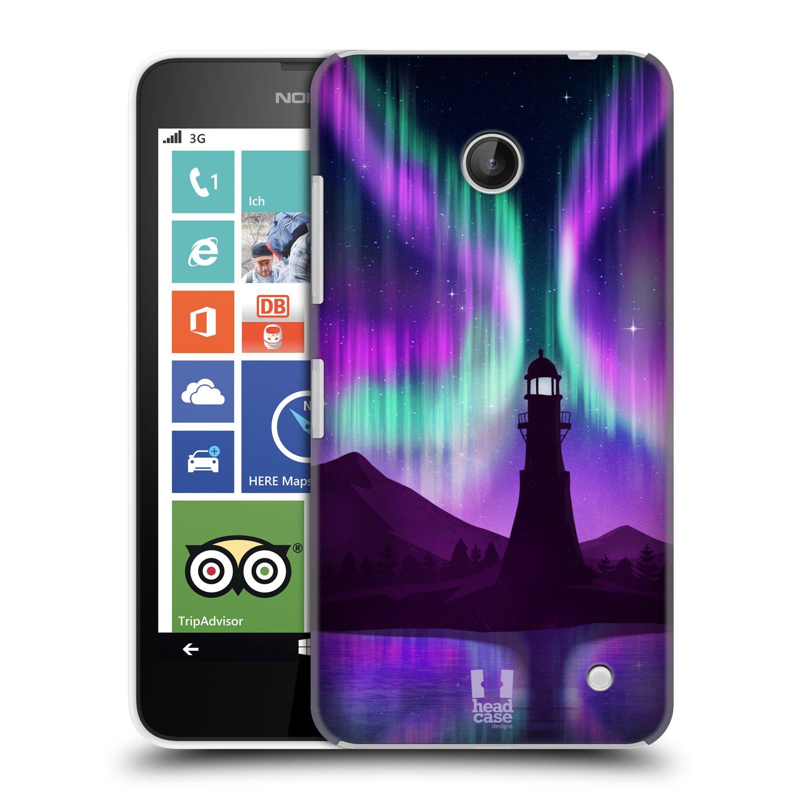 Plastové pouzdro na mobil Nokia Lumia 630 HEAD CASE Polární Záře Maják (Kryt či obal na mobilní telefon Nokia Lumia 630 a Nokia Lumia 630 Dual SIM)