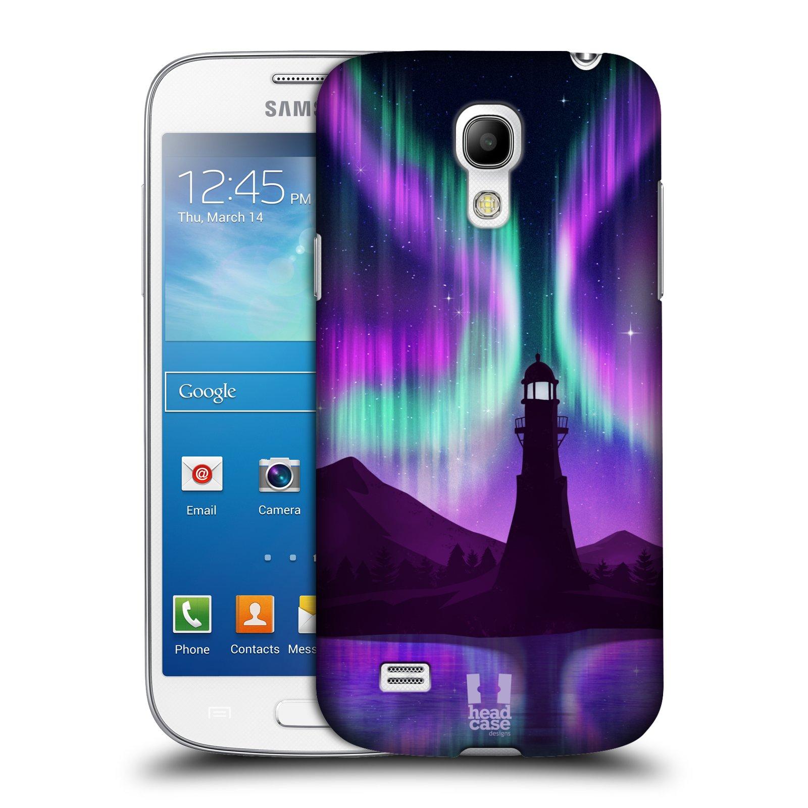 Plastové pouzdro na mobil Samsung Galaxy S4 Mini HEAD CASE Polární Záře Maják (Kryt či obal na mobilní telefon Samsung Galaxy S4 Mini GT-i9195 / i9190)