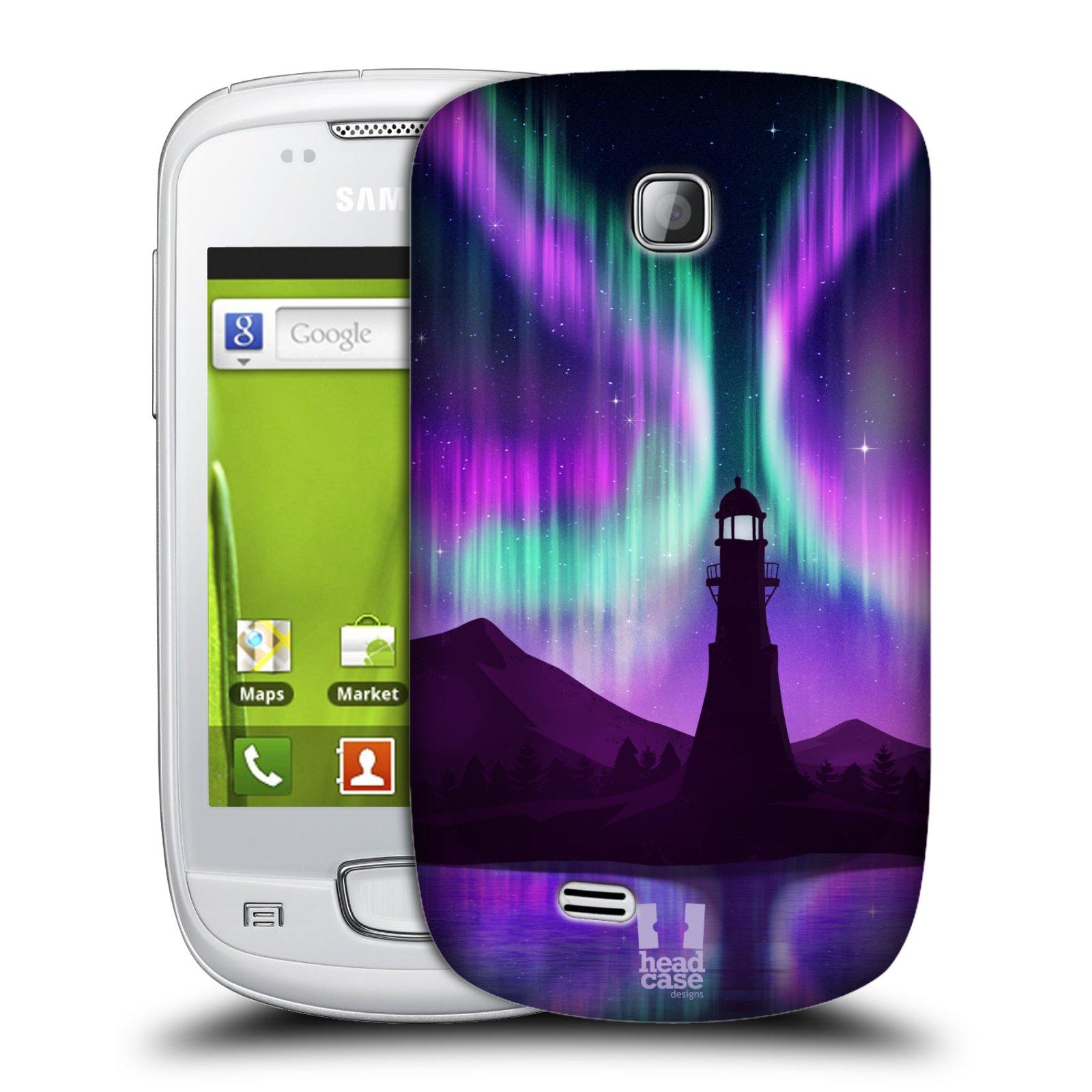 Plastové pouzdro na mobil Samsung Galaxy Mini HEAD CASE Polární Záře Maják (Kryt či obal na mobilní telefon Samsung Galaxy Mini GT-S5570 / GT-S5570i)