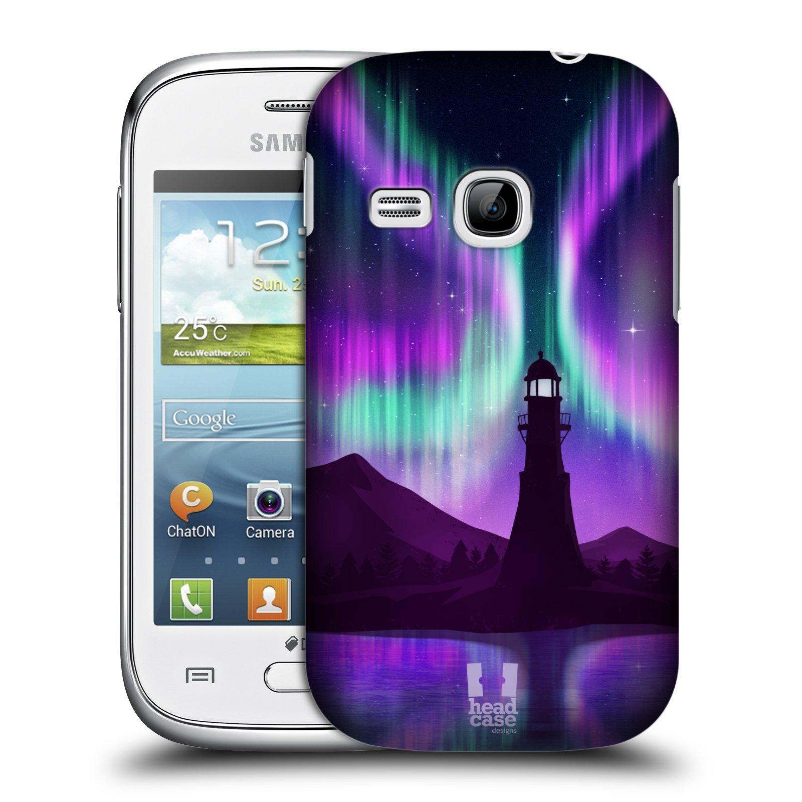 Plastové pouzdro na mobil Samsung Galaxy Young HEAD CASE Polární Záře Maják (Kryt či obal na mobilní telefon Samsung Galaxy Young GT-S6310)