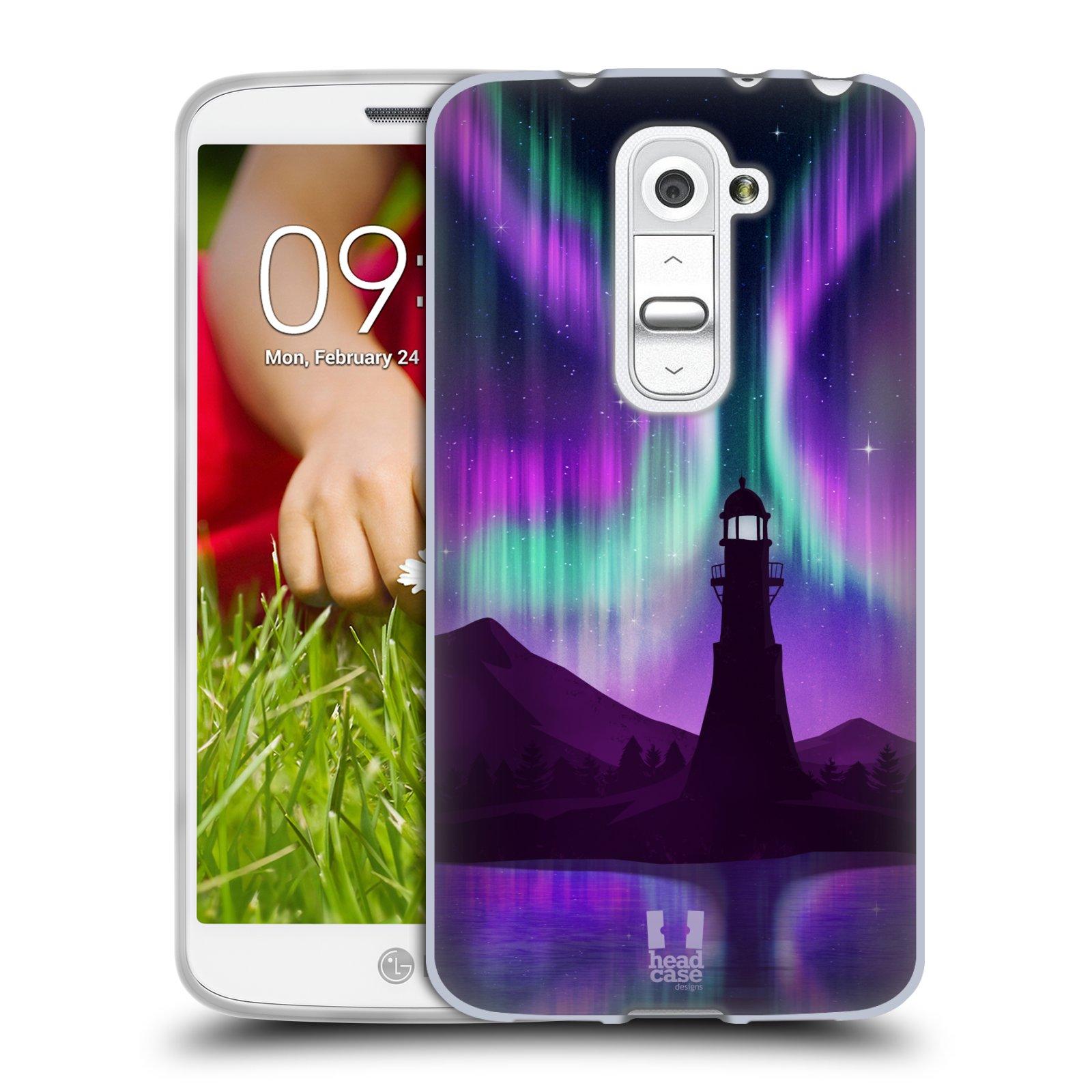 Silikonové pouzdro na mobil LG G2 Mini HEAD CASE Polární Záře Maják (Silikonový kryt či obal na mobilní telefon LG G2 Mini D620)