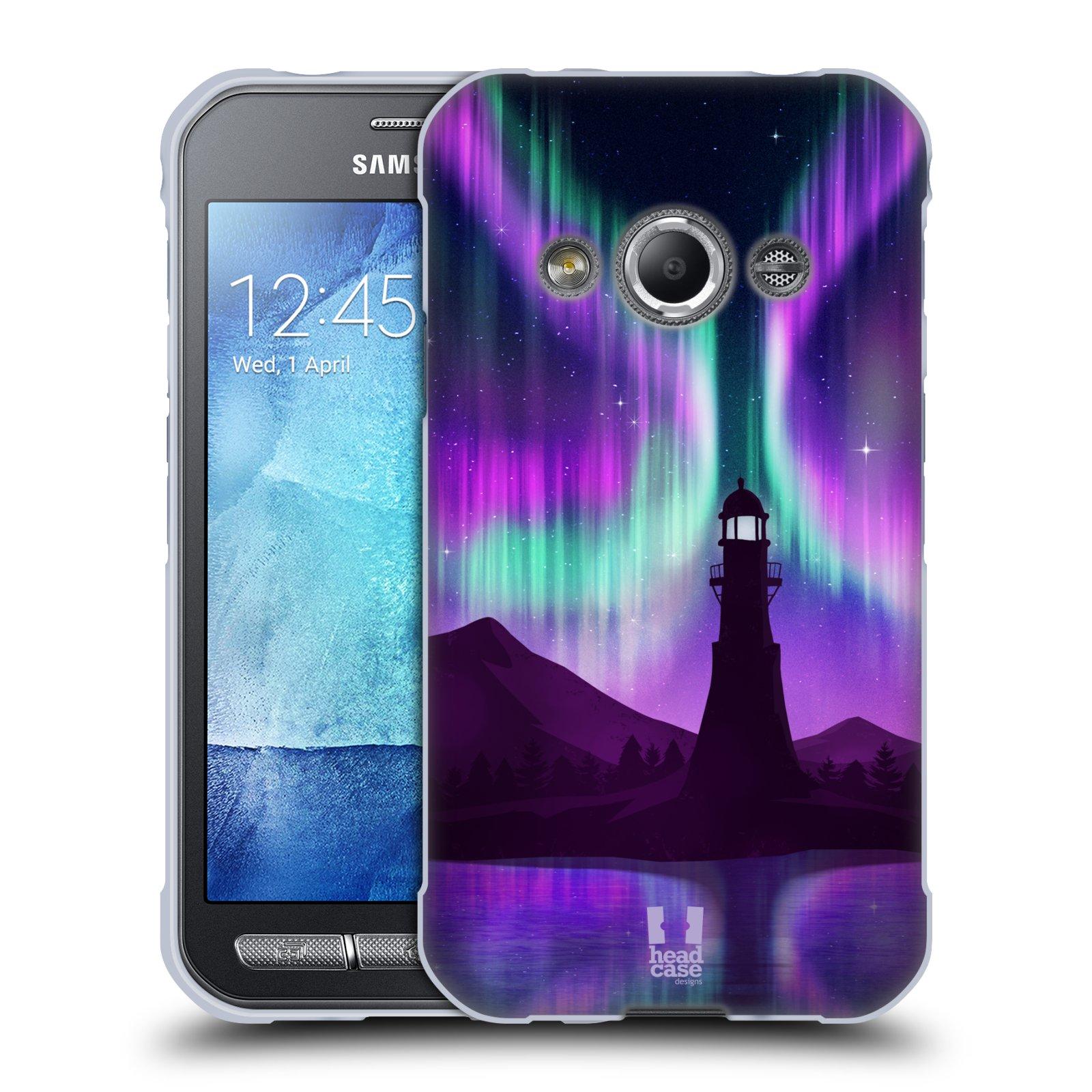 Silikonové pouzdro na mobil Samsung Galaxy Xcover 3 HEAD CASE Polární Záře Maják