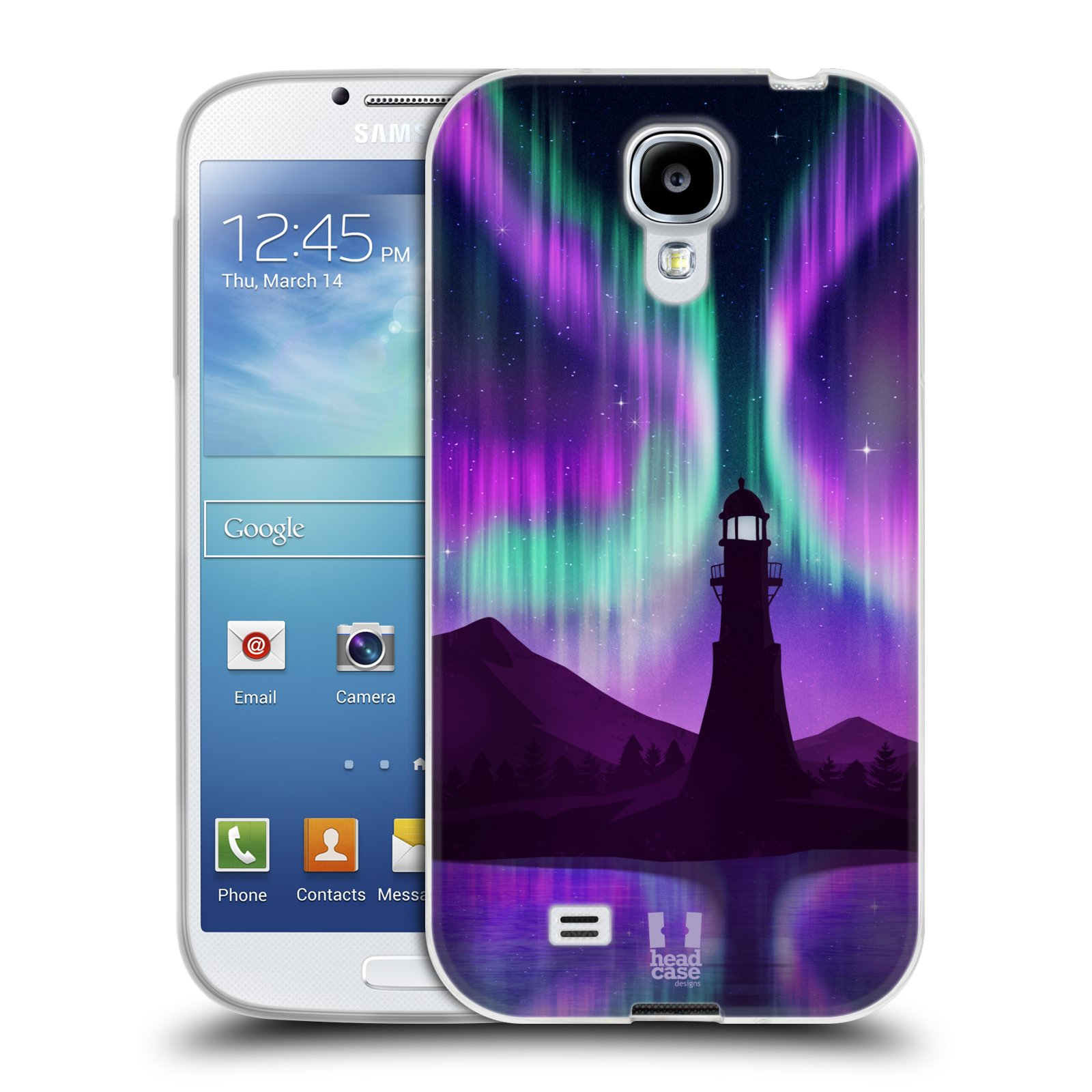 Silikonové pouzdro na mobil Samsung Galaxy S4 HEAD CASE Polární Záře Maják (Silikonový kryt či obal na mobilní telefon Samsung Galaxy S4 GT-i9505 / i9500)