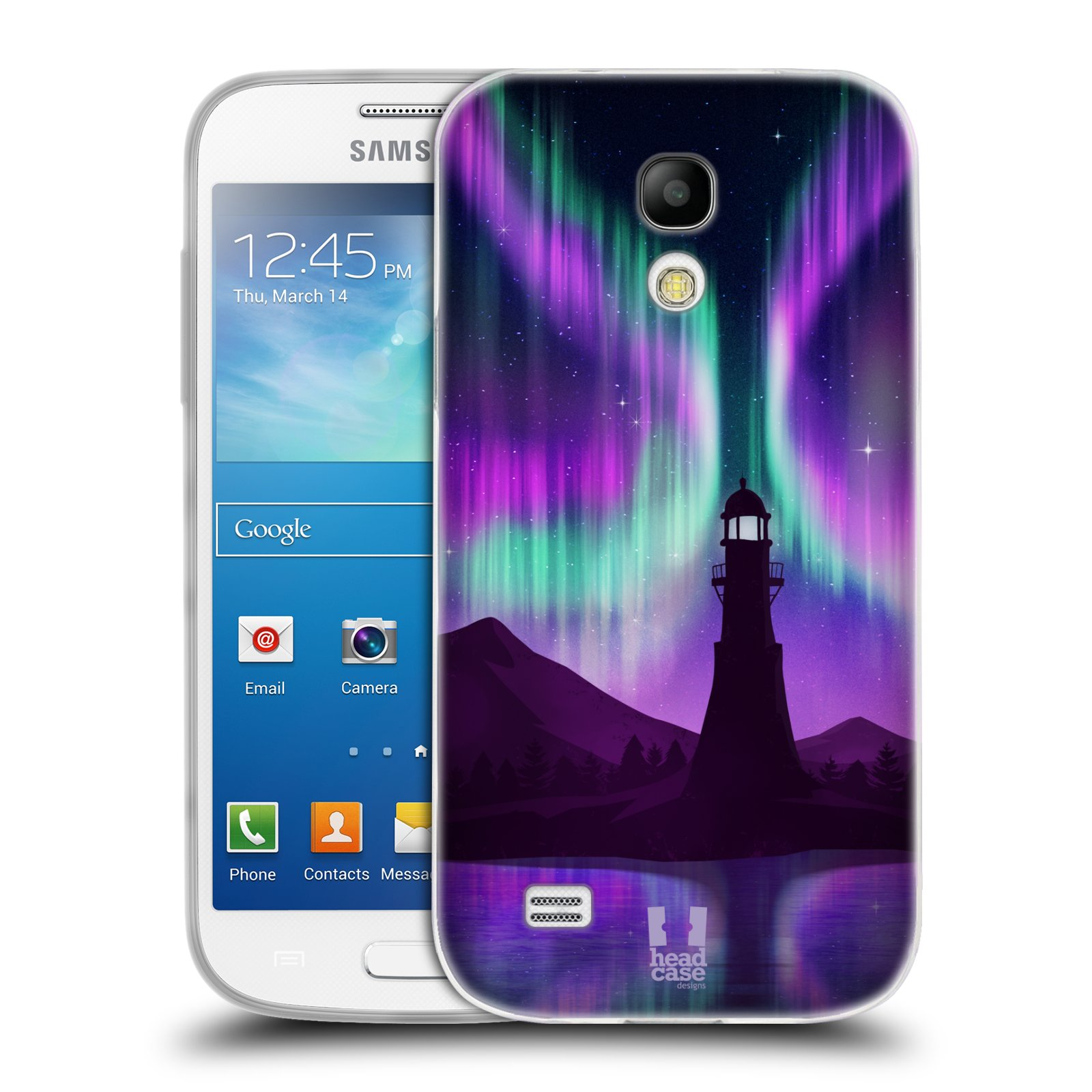 Silikonové pouzdro na mobil Samsung Galaxy S4 Mini HEAD CASE Polární Záře Maják (Silikonový kryt či obal na mobilní telefon Samsung Galaxy S4 Mini GT-i9195 / i9190)