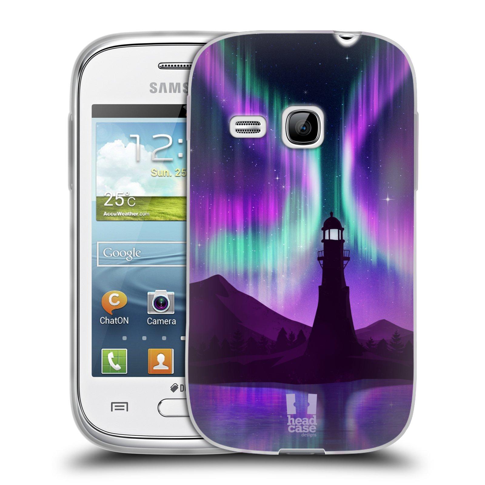 Silikonové pouzdro na mobil Samsung Galaxy Young HEAD CASE Polární Záře Maják (Silikonový kryt či obal na mobilní telefon Samsung Galaxy Young GT-S6310)