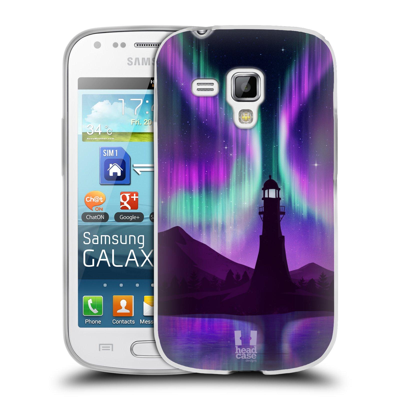 Silikonové pouzdro na mobil Samsung Galaxy S Duos HEAD CASE Polární Záře Maják (Silikonový kryt či obal na mobilní telefon Samsung Galaxy S Duos GT-S7562)