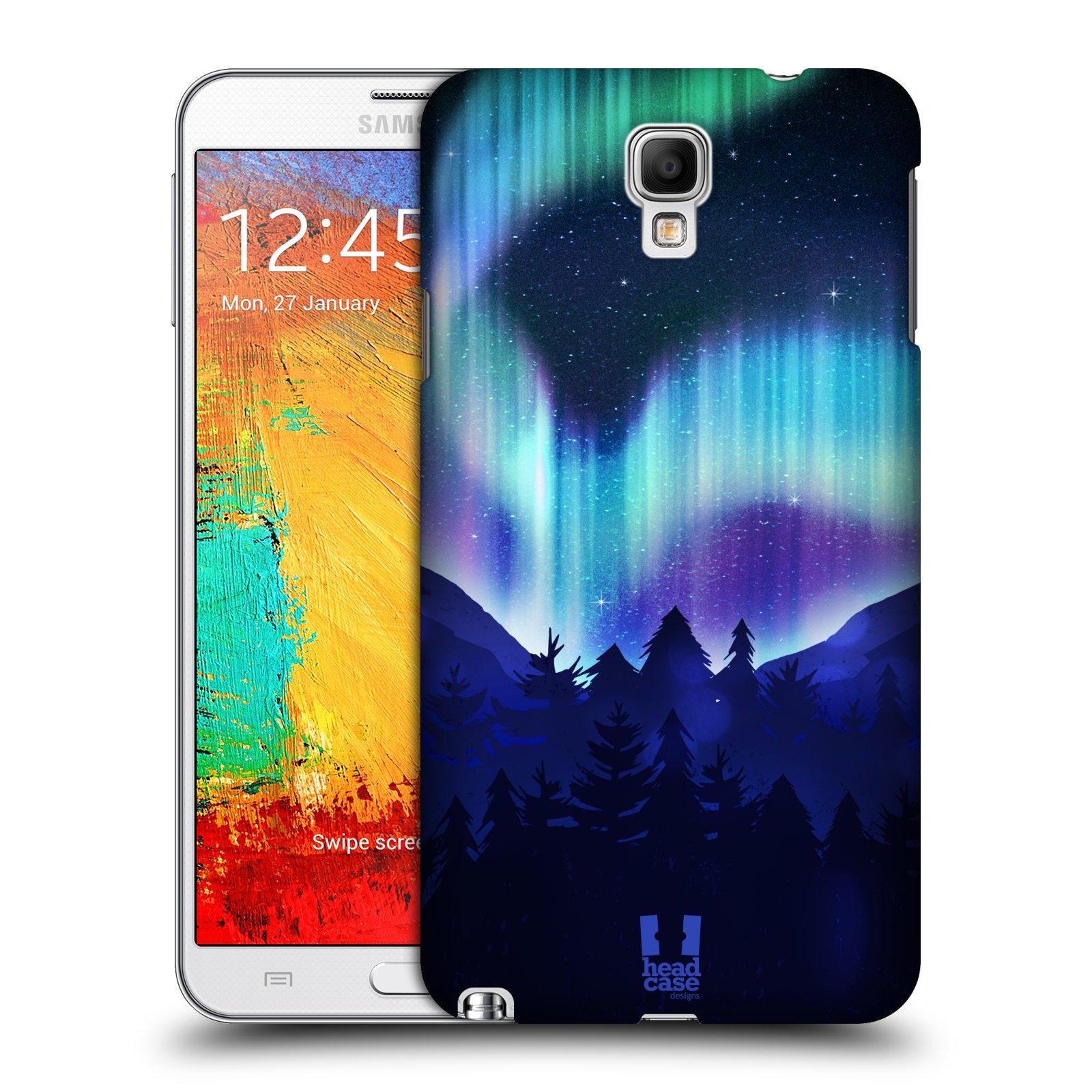 Plastové pouzdro na mobil Samsung Galaxy Note 3 Neo HEAD CASE Polární Záře Borovice (Kryt či obal na mobilní telefon Samsung Galaxy Note 3 Neo SM-N7505)