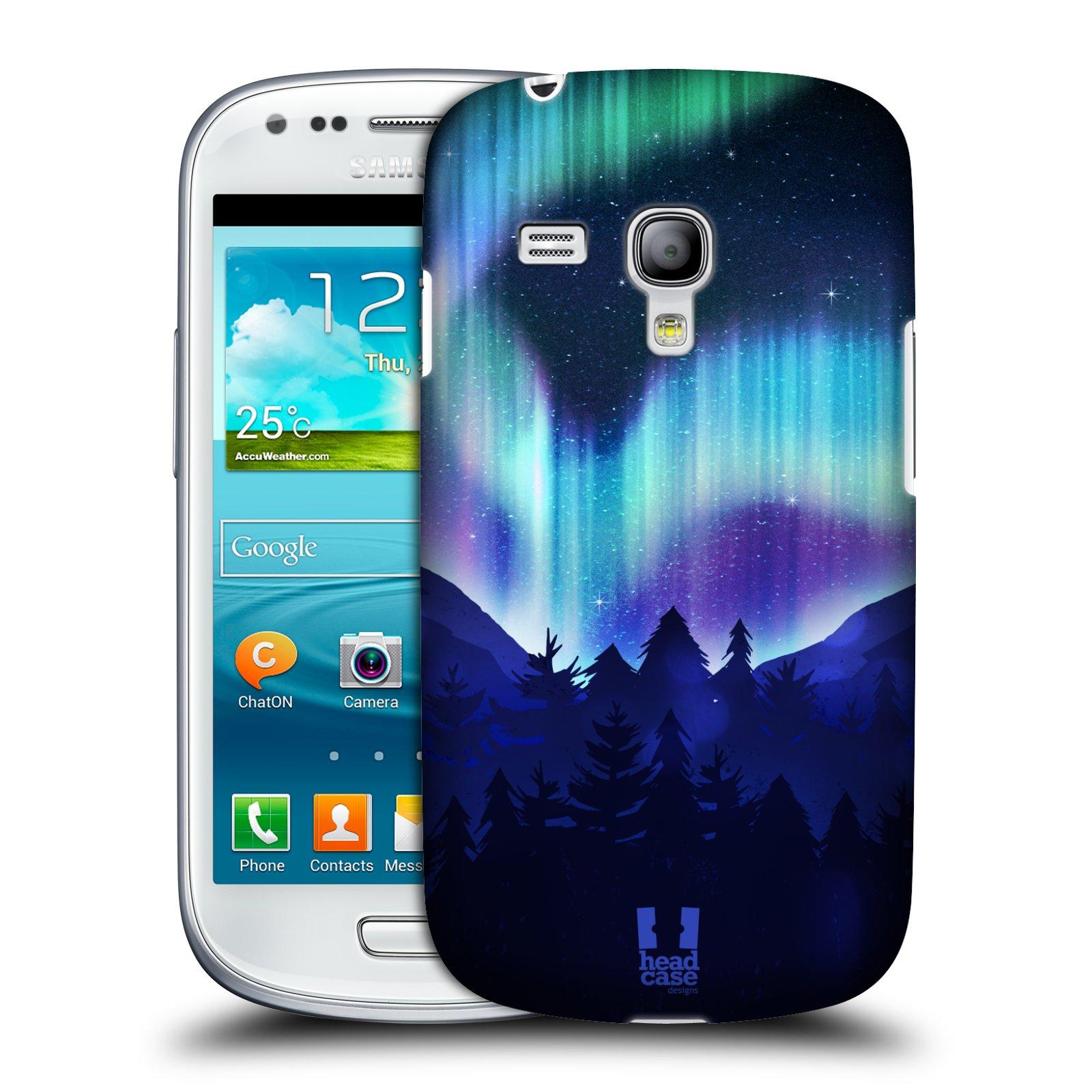 Plastové pouzdro na mobil Samsung Galaxy S III Mini HEAD CASE Polární Záře Borovice (Kryt či obal na mobilní telefon Samsung Galaxy S III Mini GT-i8190)
