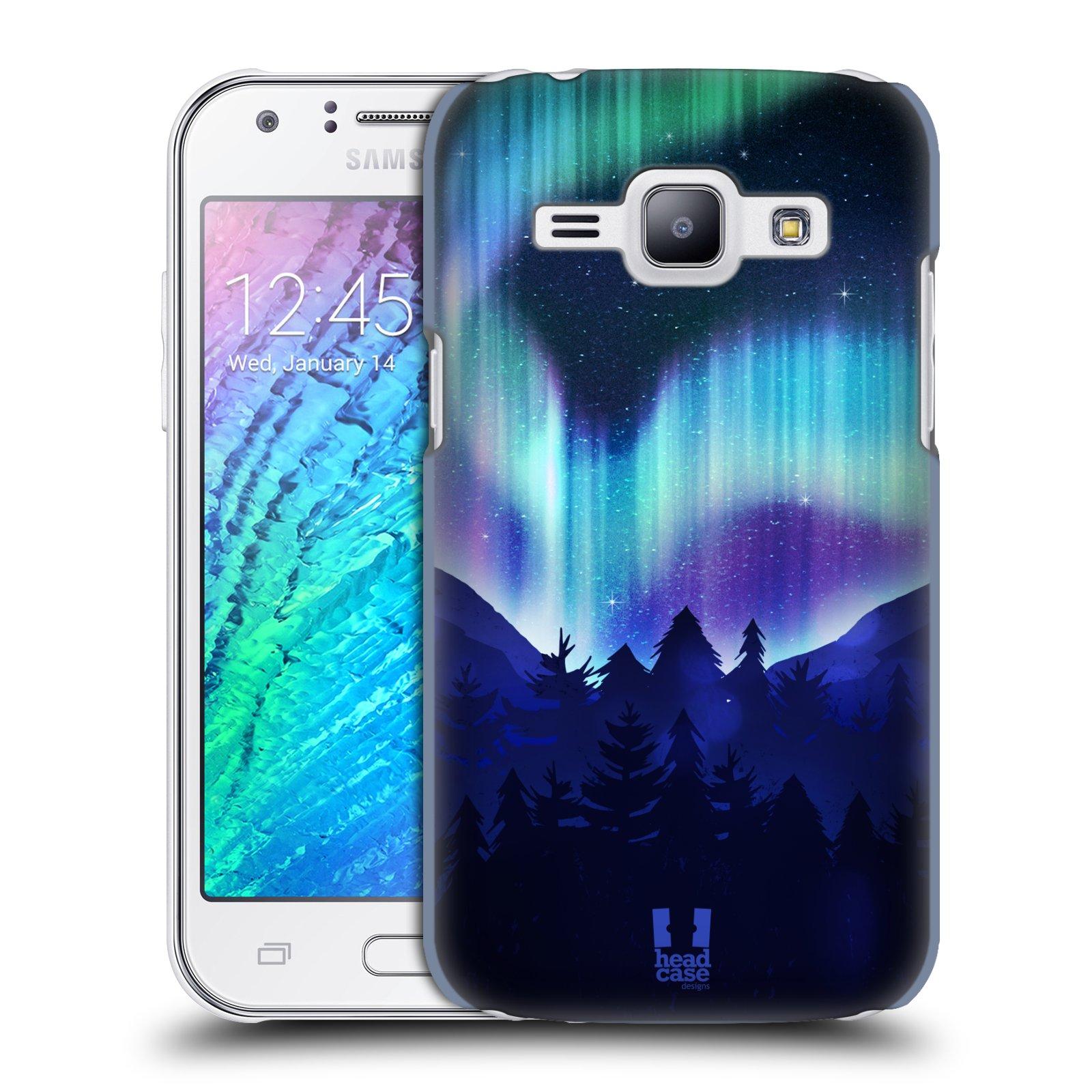 Plastové pouzdro na mobil Samsung Galaxy J1 HEAD CASE Polární Záře Borovice (Kryt či obal na mobilní telefon Samsung Galaxy J1 a J1 Duos )