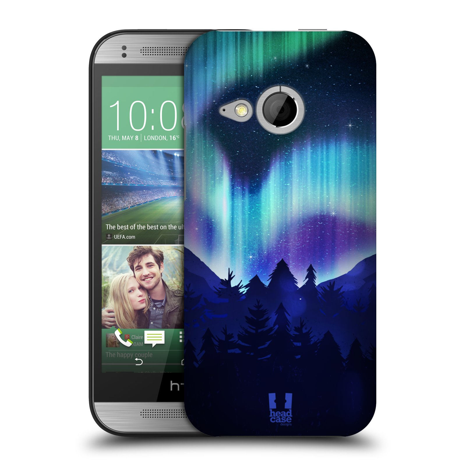 Plastové pouzdro na mobil HTC ONE Mini 2 HEAD CASE Polární Záře Borovice (Kryt či obal na mobilní telefon HTC ONE Mini 2)
