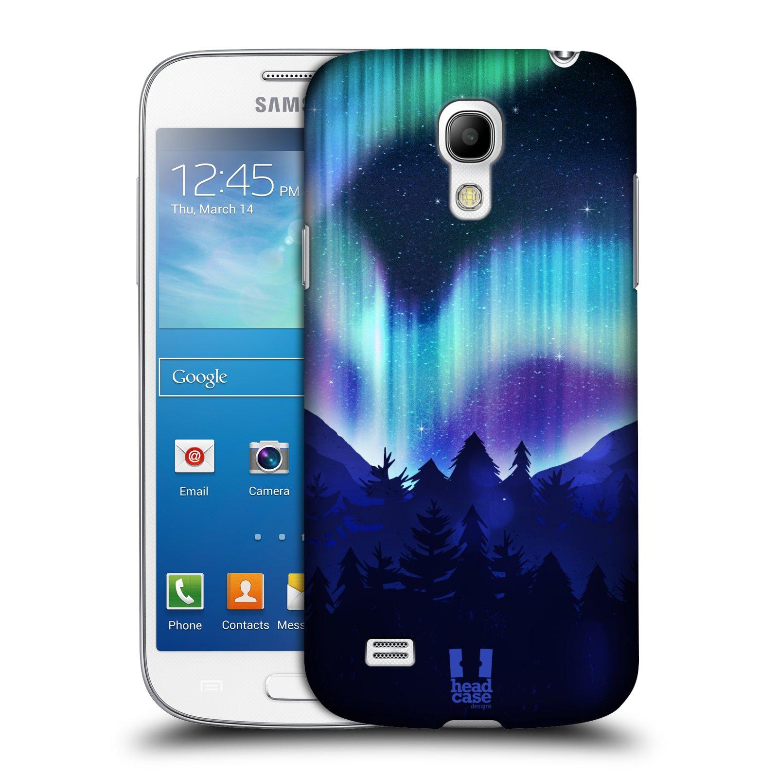 Plastové pouzdro na mobil Samsung Galaxy S4 Mini HEAD CASE Polární Záře Borovice (Kryt či obal na mobilní telefon Samsung Galaxy S4 Mini GT-i9195 / i9190)