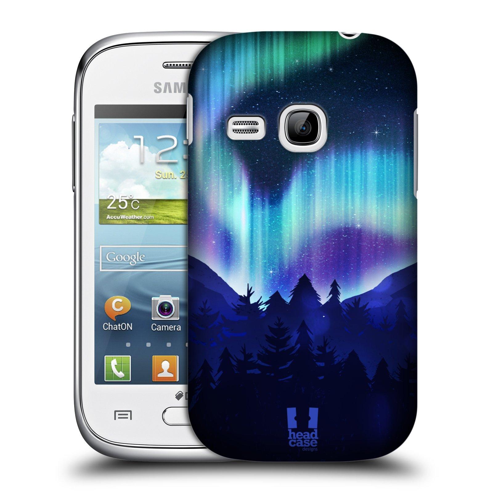 Plastové pouzdro na mobil Samsung Galaxy Young HEAD CASE Polární Záře Borovice (Kryt či obal na mobilní telefon Samsung Galaxy Young GT-S6310)