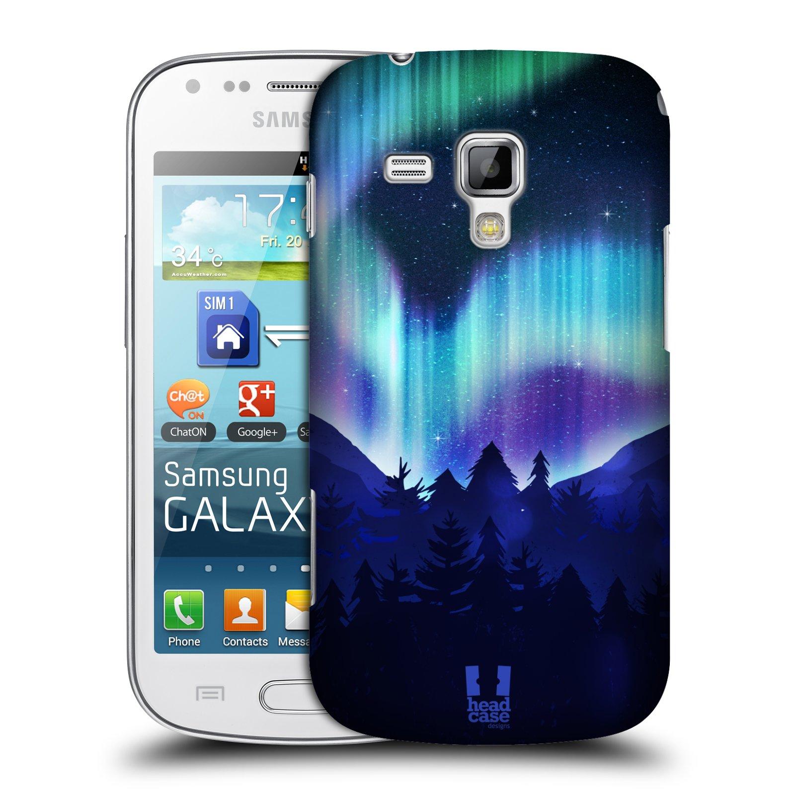 Plastové pouzdro na mobil Samsung Galaxy Trend Plus HEAD CASE Polární Záře Borovice (Kryt či obal na mobilní telefon Samsung Galaxy Trend Plus GT-S7580)